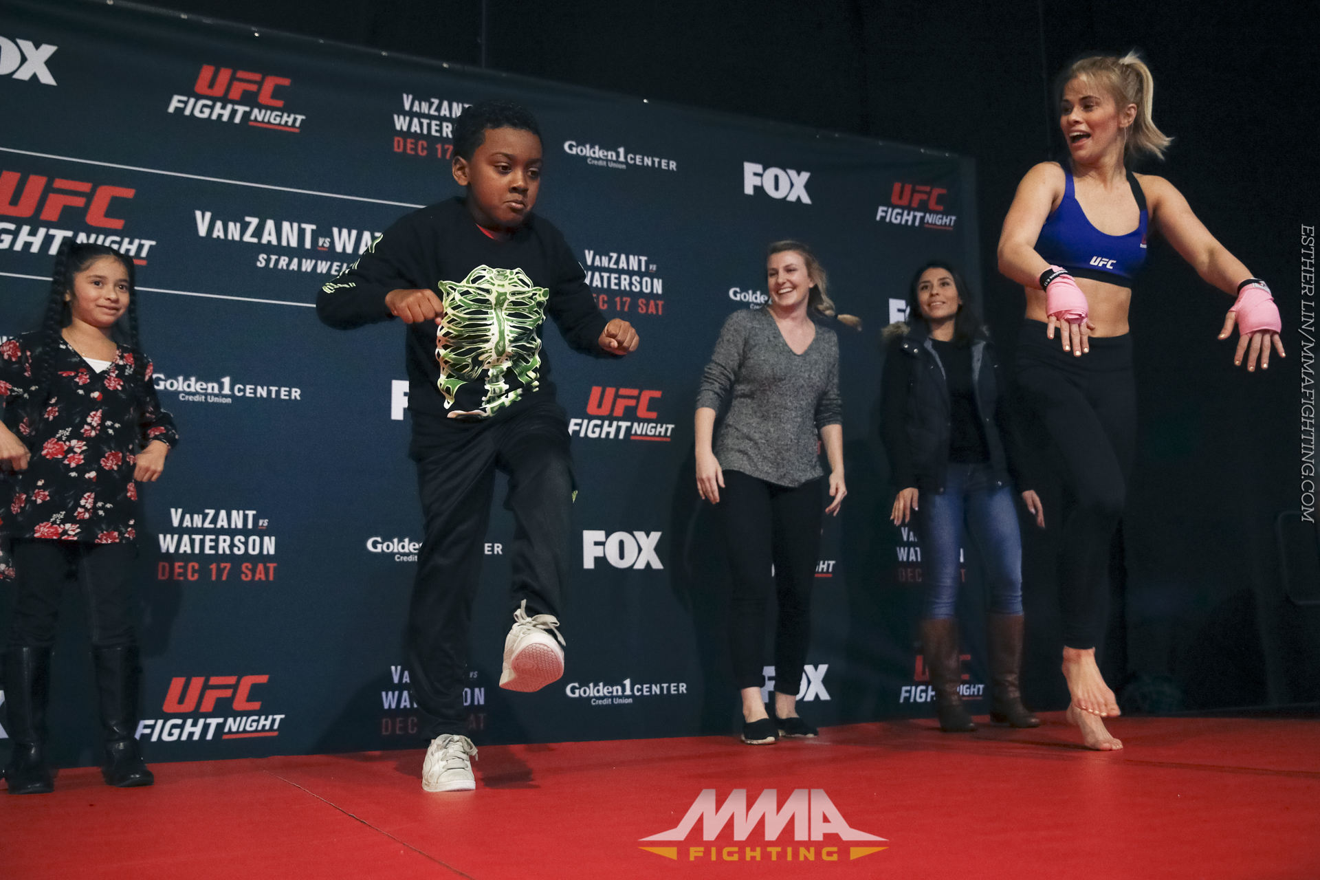 Ufc On Fox 22 Open Workout Photos Paige Vanzant Hosts An Impromptu Dance Contest During The Workouts At Golden 1 Center In Sacramento