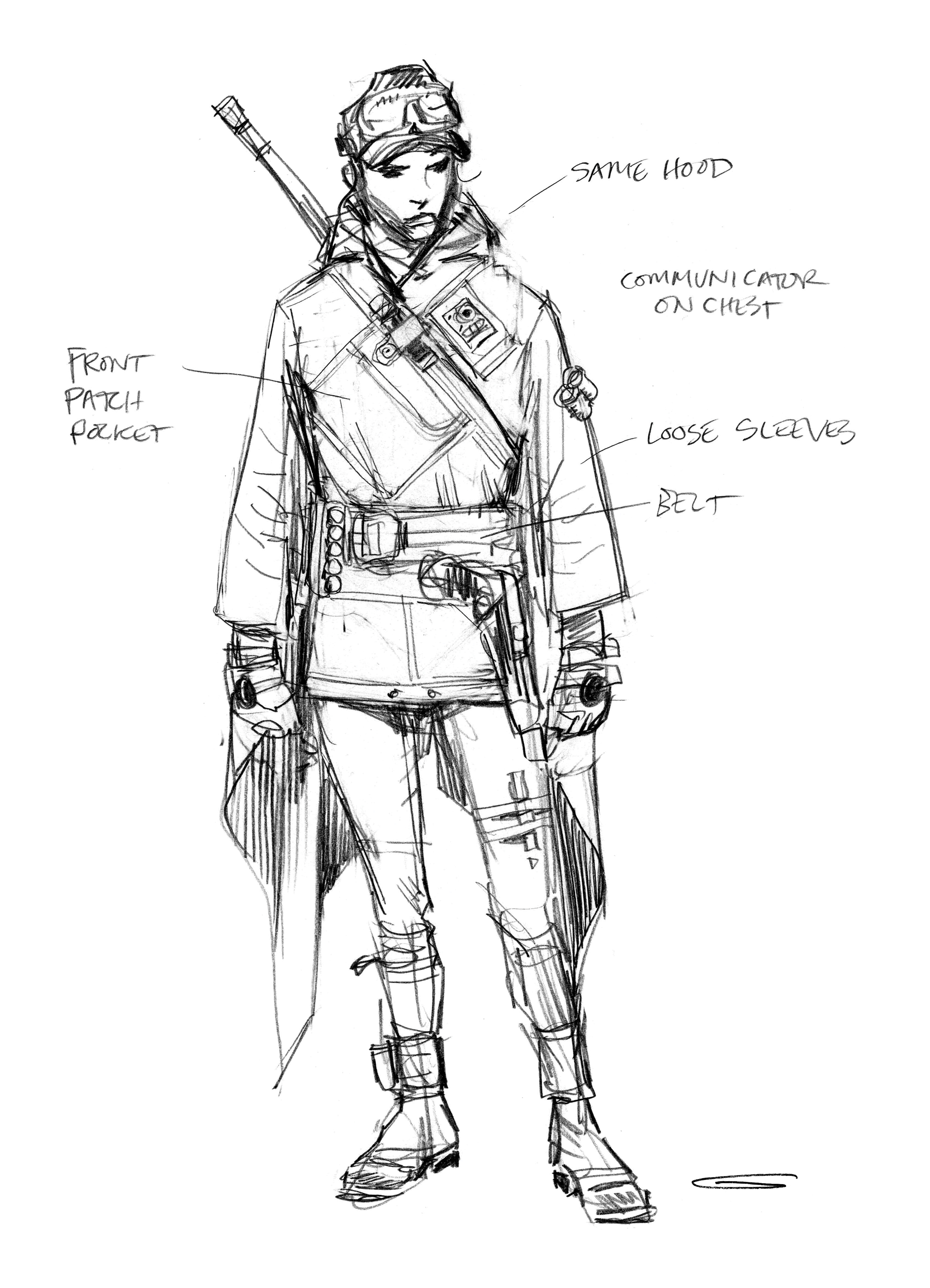 Force Character Design From Life Drawing Pdf Download : Rogue one art book reveals the transformation of its