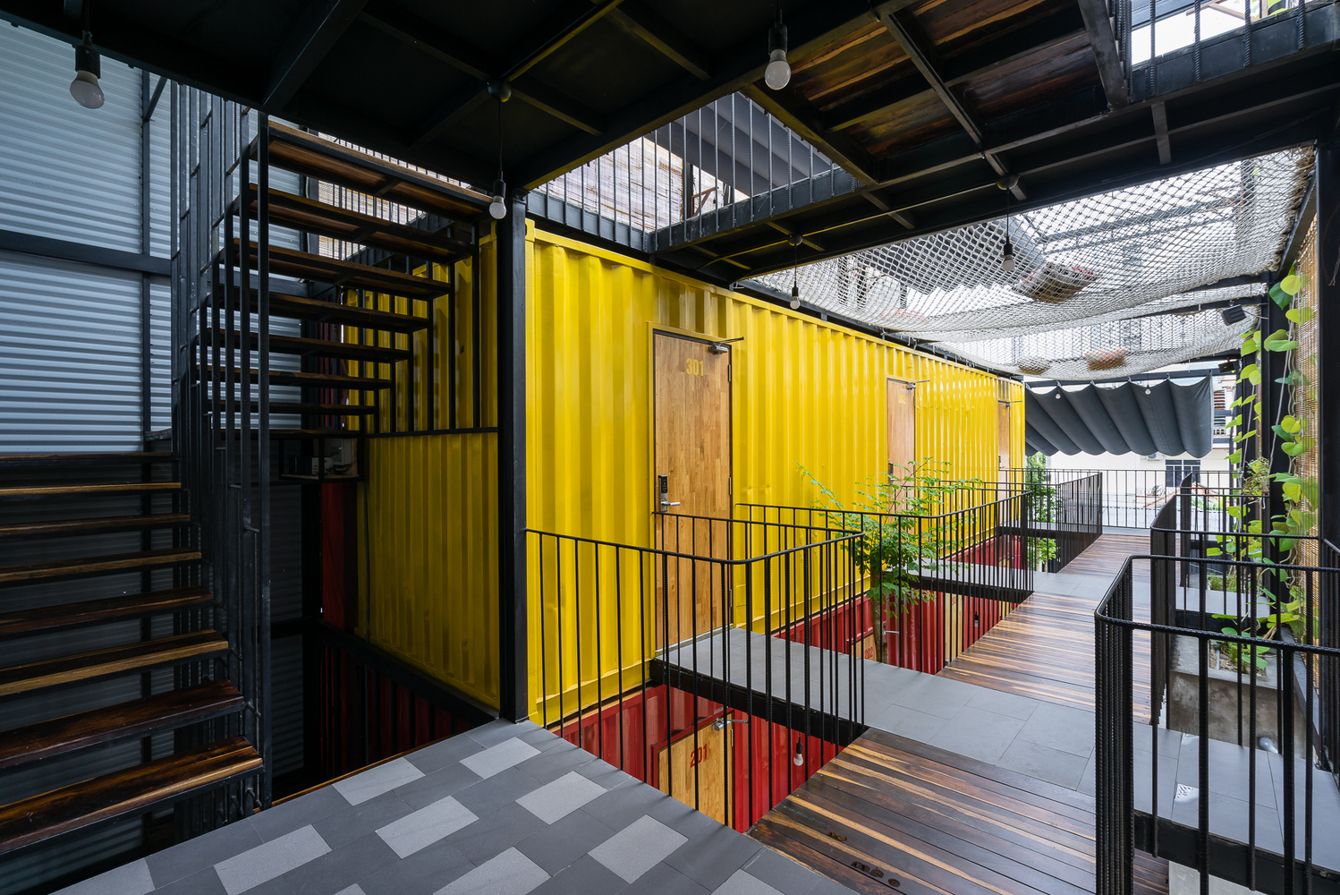 Clever shipping container hostel opens in Vietnam