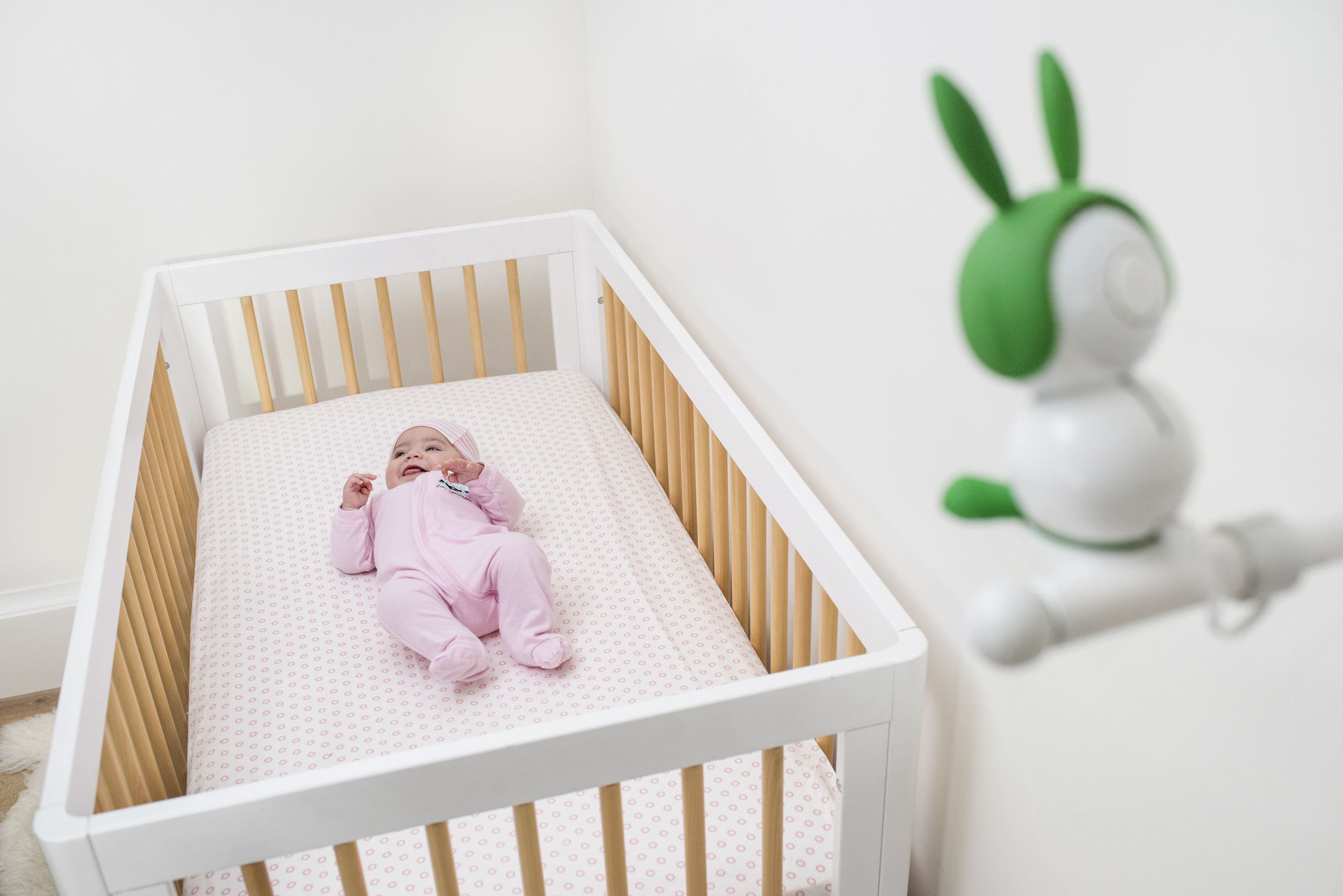 look at this creepy cute little baby monitor with bunny ears the verge. Black Bedroom Furniture Sets. Home Design Ideas