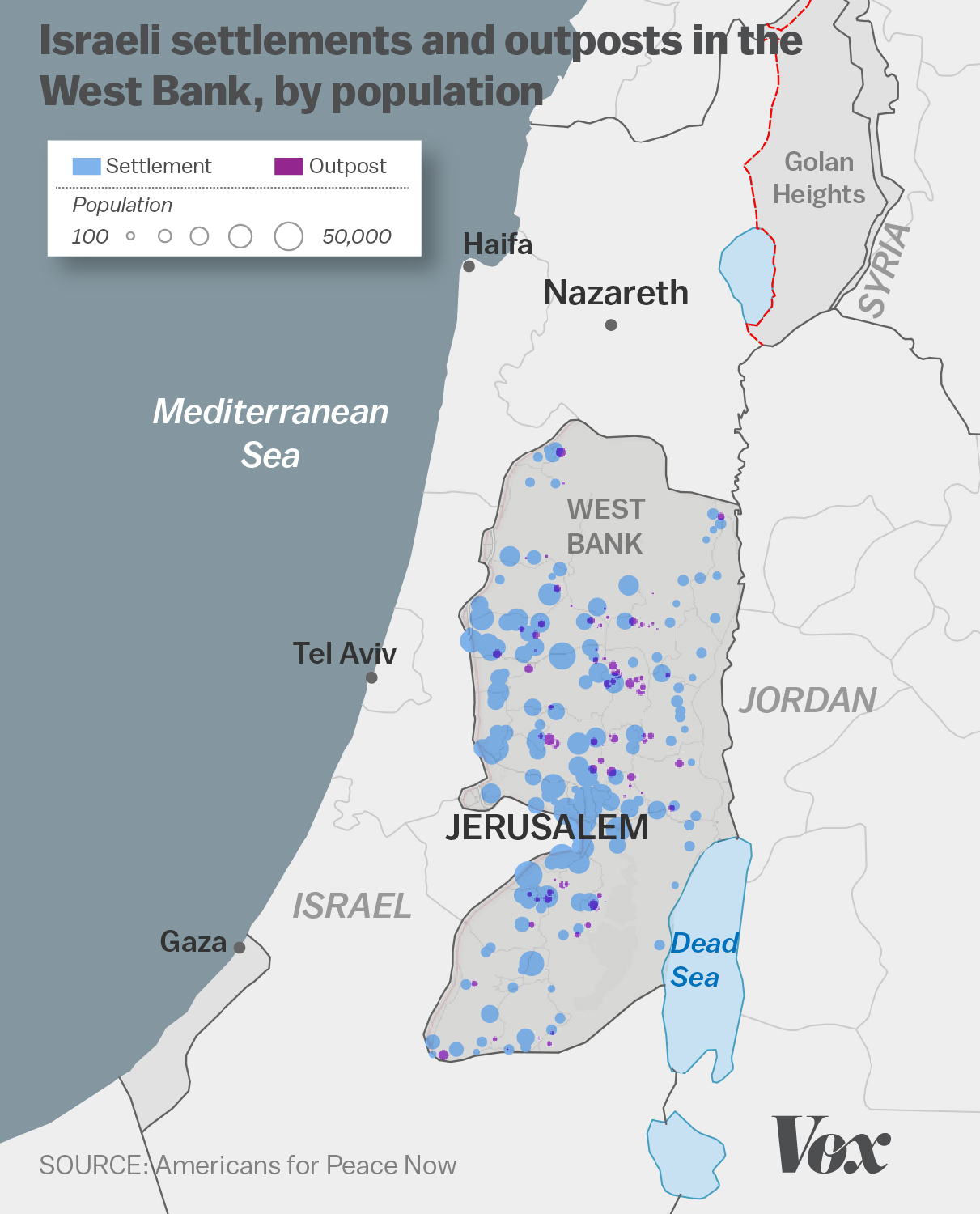 The Growth Of Israeli Settlements Explained In Charts Vox - Israel world map