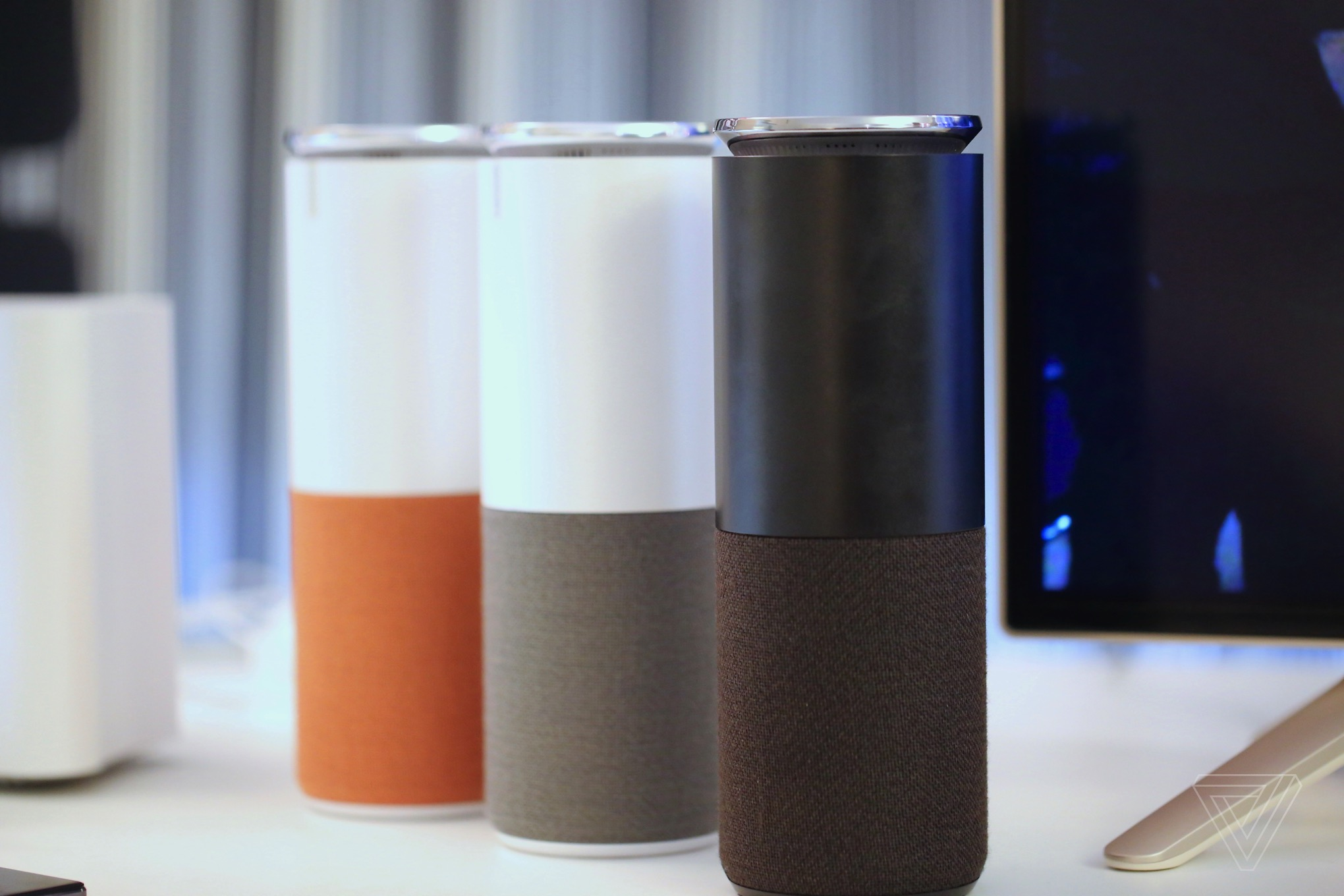 lenovo has made an amazon echo lookalike but with better speakers the verge. Black Bedroom Furniture Sets. Home Design Ideas