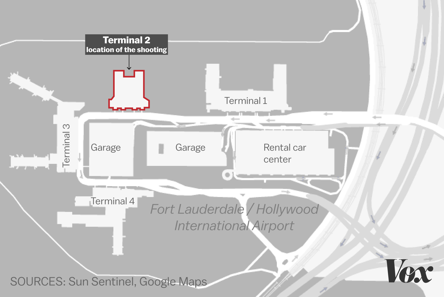 Shooting At Fort Lauderdale Florida Airport What We Know Vox - Florida airports map