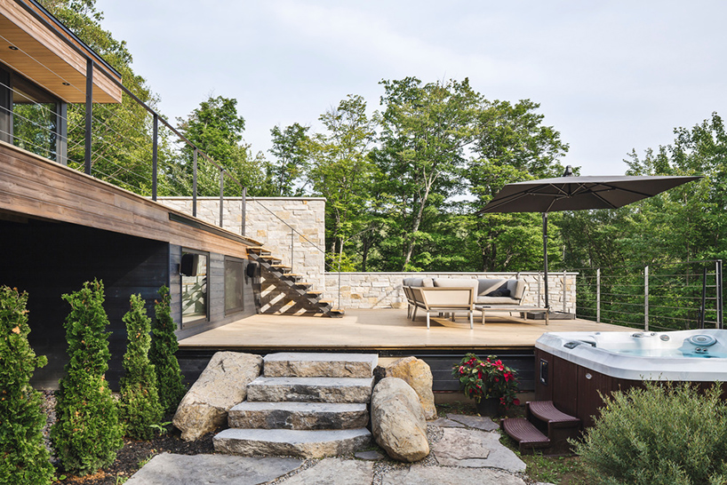Floating Timber Modern House In The Woods Offers Mod Take On Rustic
