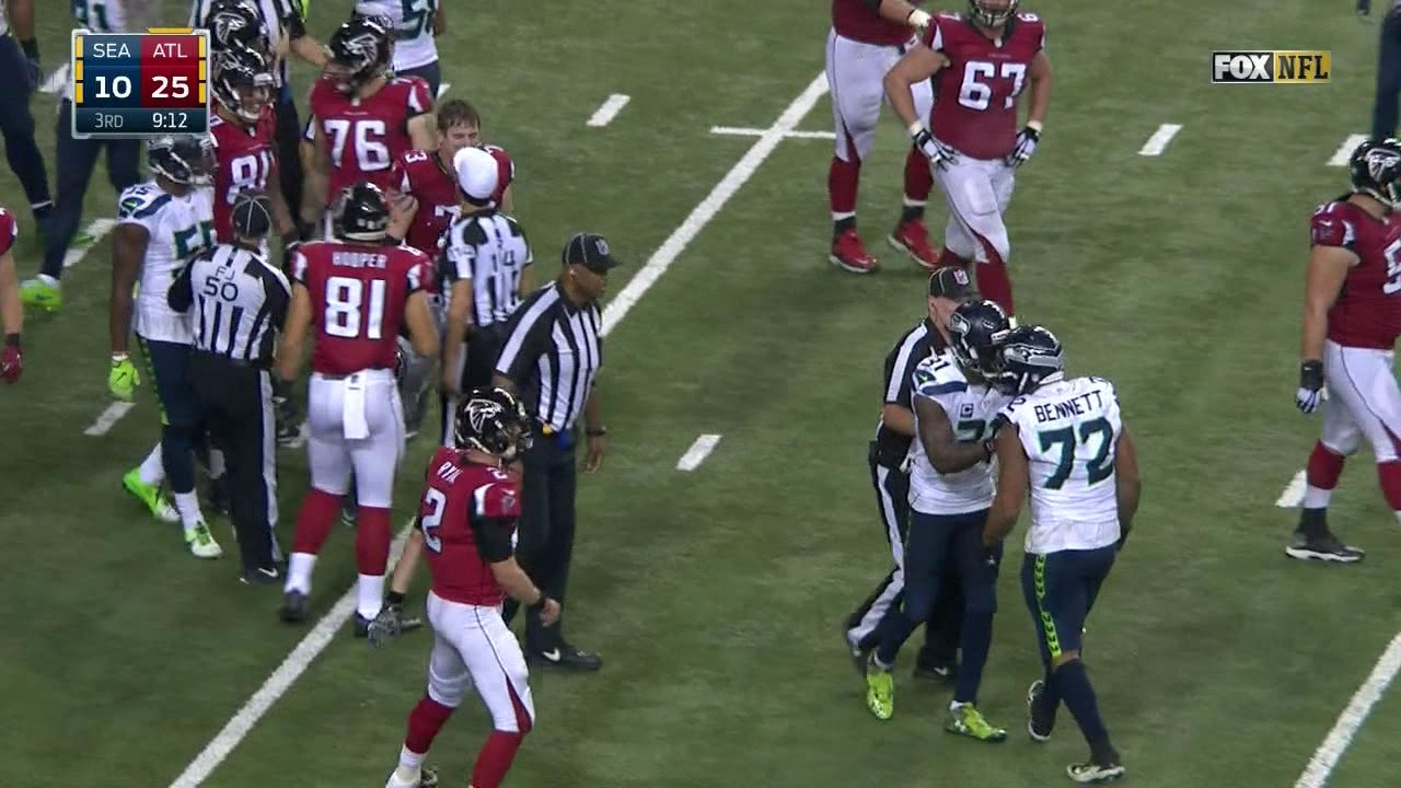 Michael Bennett and Ryan Schraeder nearly came to blows in