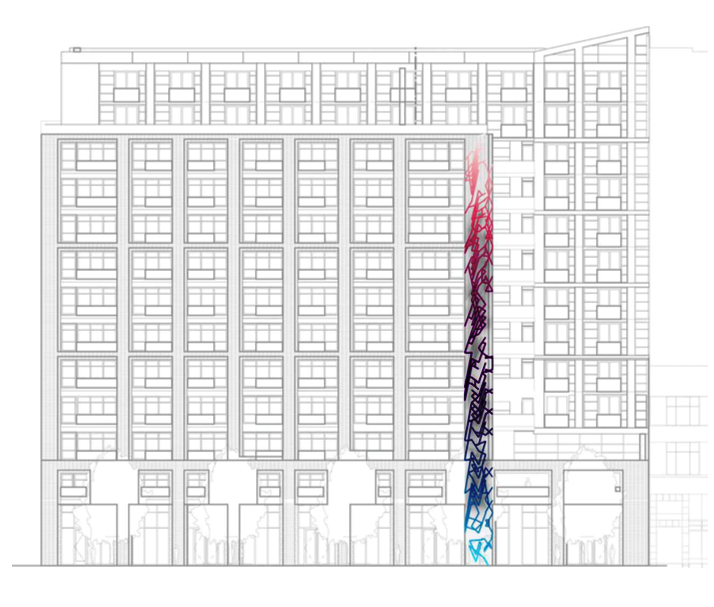 Market Street Apartments: Local Artist's Towering Glass Rainbow Mosaic To Brighten