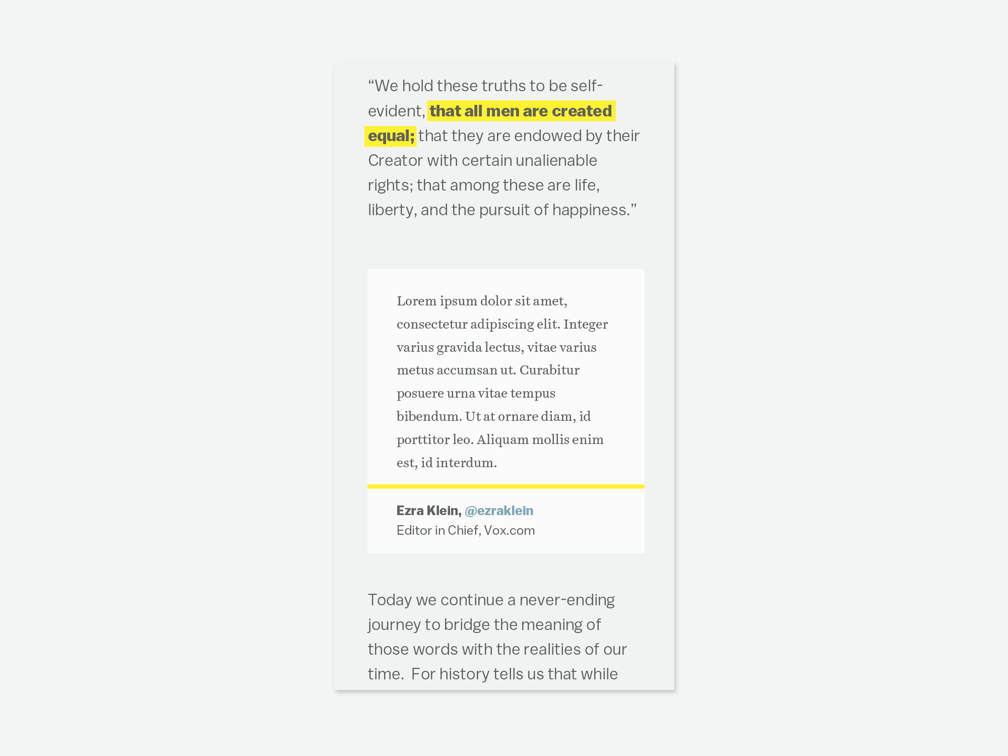 Screenshot Of Text, Highlighted Text In A Paragraph Corresponding To An  Annotation Card