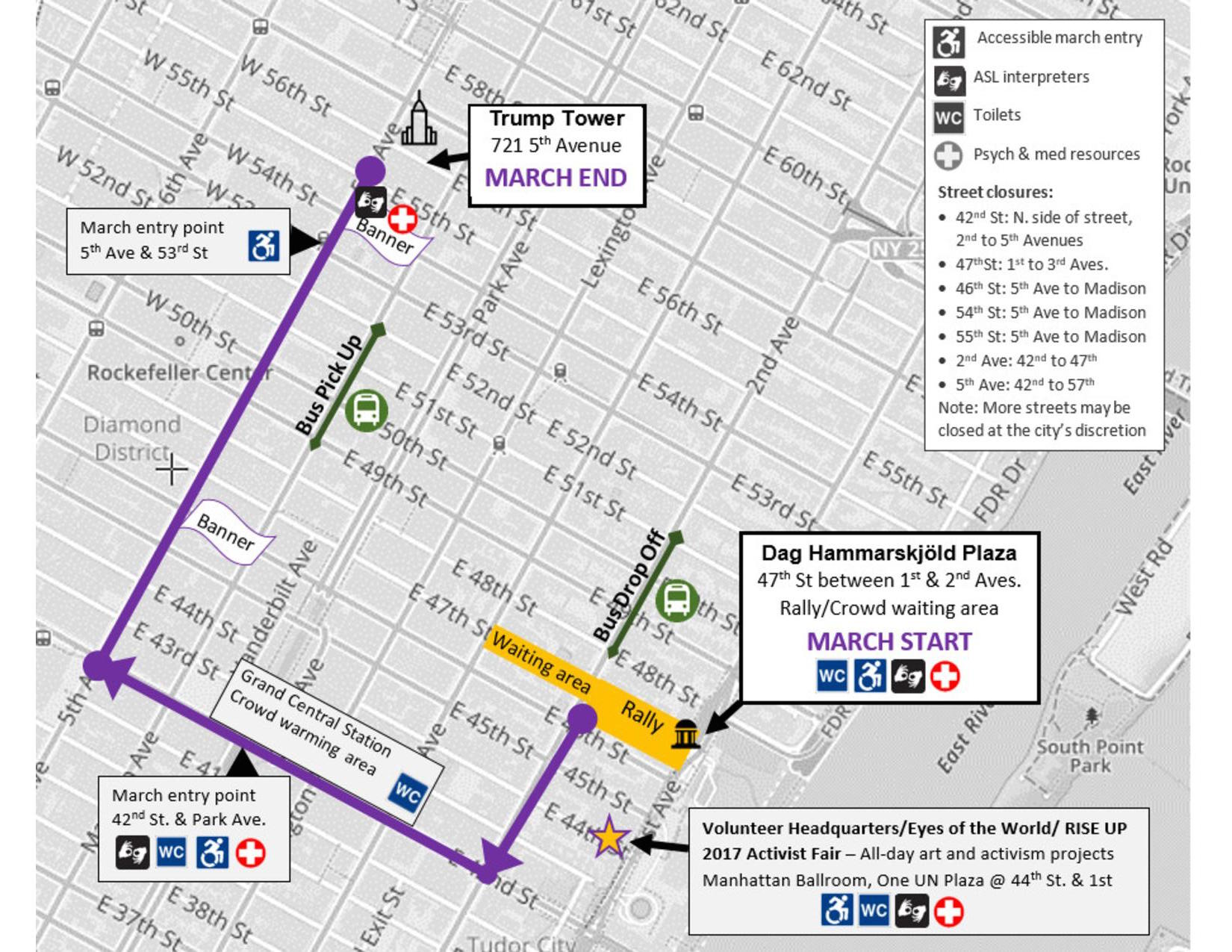 Womens march on nyc route and street closures curbed ny womens march on nyc route and street closures sciox Choice Image