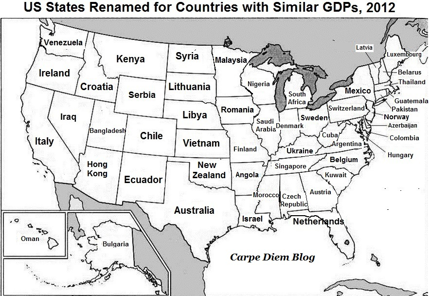 Maps About America Worth Bringing Up At Dinner Parties Andor - Us map states labeled