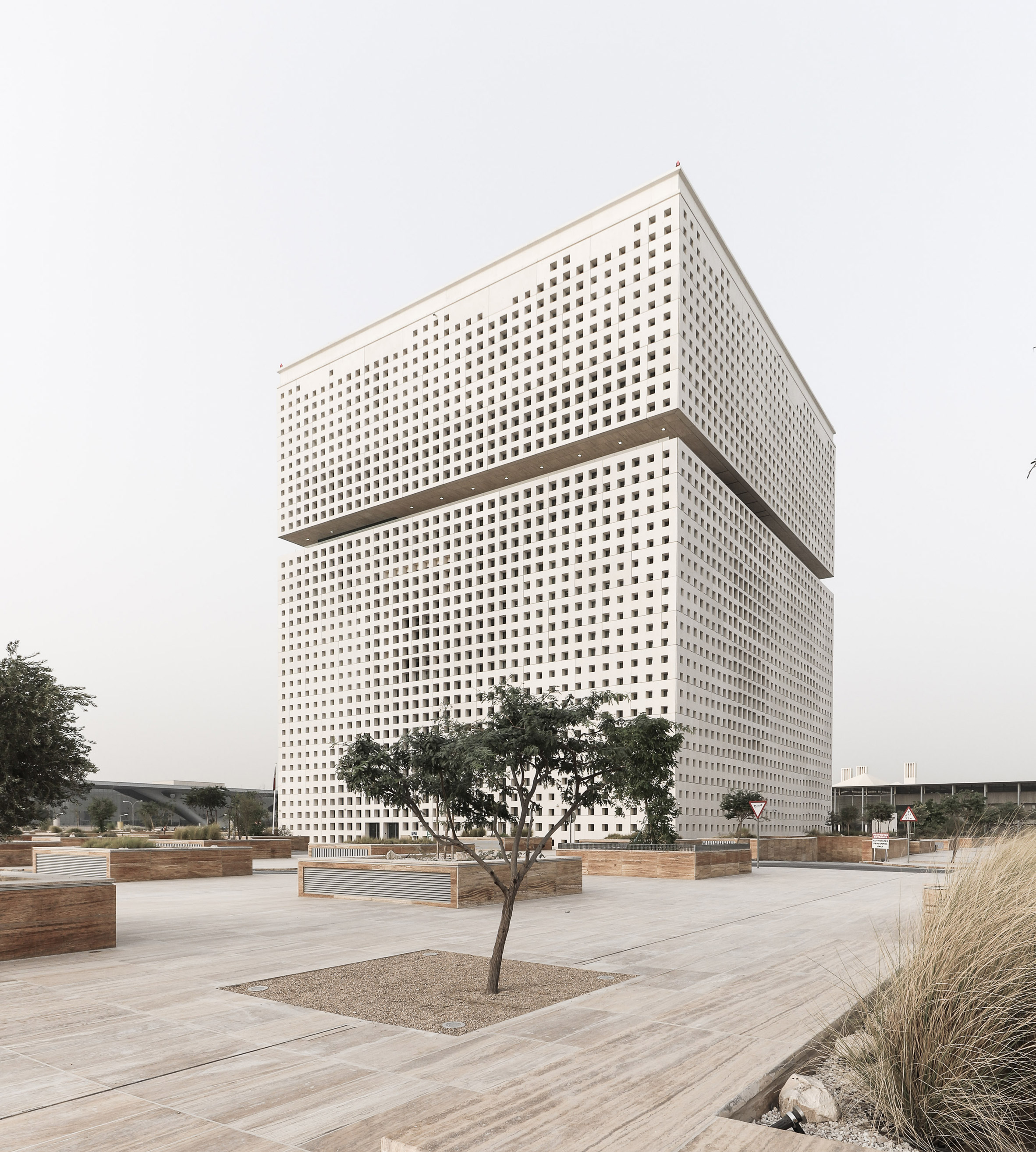 Oma designed qatar foundation unveiled in new photos curbed for Architecture qatar