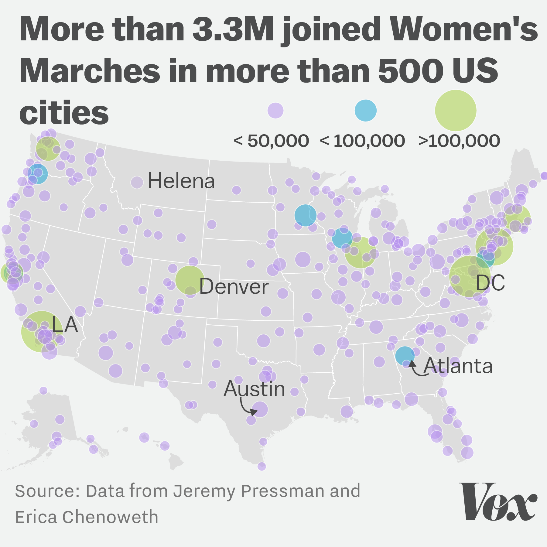 New Analysis The Womens March In Washington DC Drew Half A - Dc us map