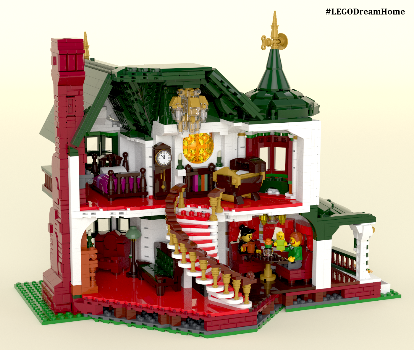 This Mini Victorian Dream Home Was Built With Legos