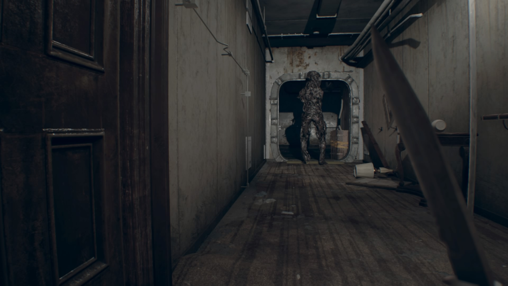 Resident evil 7 biohazard walkthrough 6 0 wrecked ship all turn right and make your way toward the room where the old videotape started crouch when you hit the corner to make sure the armless molded there doesnt rubansaba