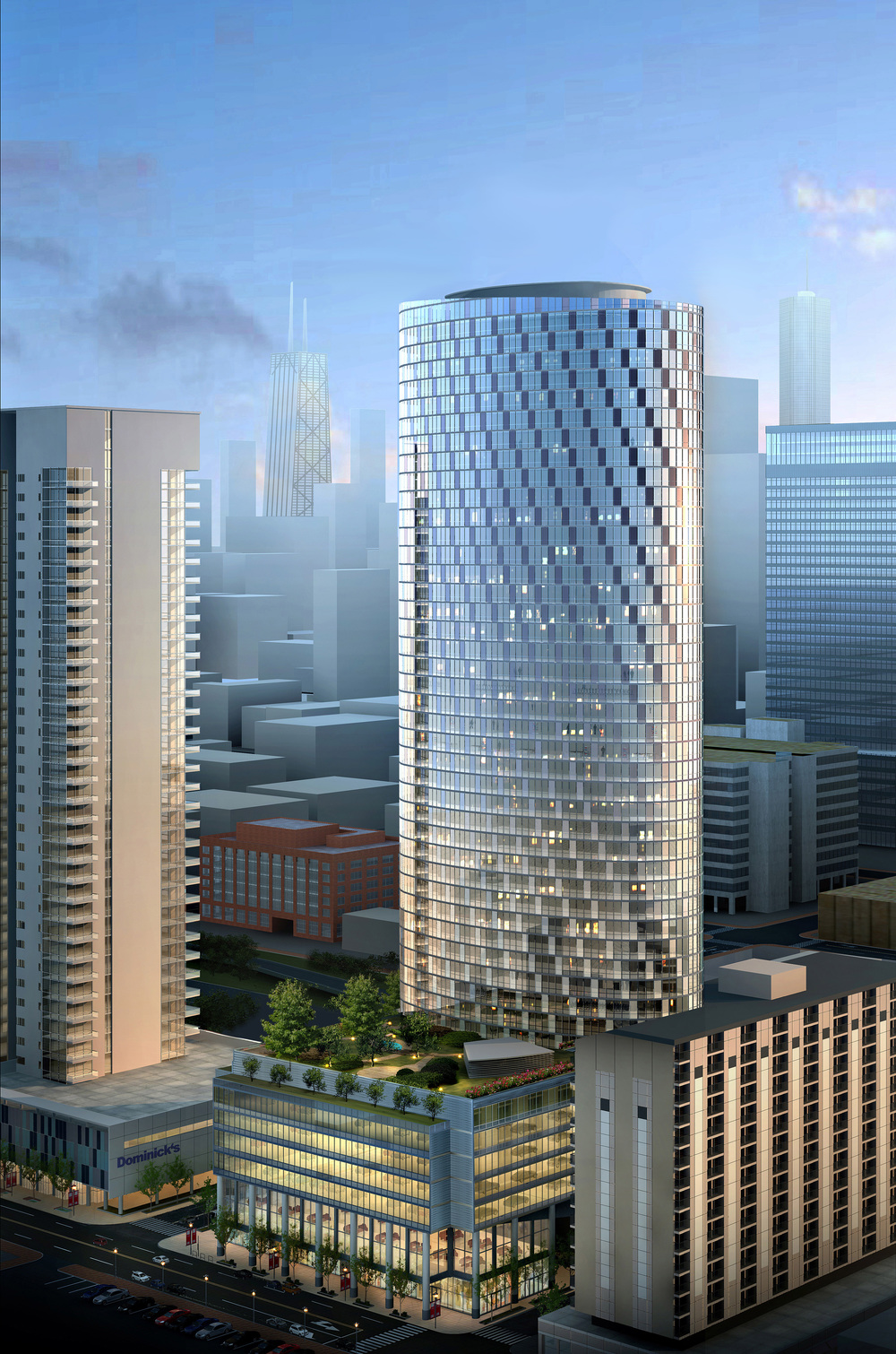 500 foot apartment tower headed to chicago s greektown curbed chicago. Black Bedroom Furniture Sets. Home Design Ideas