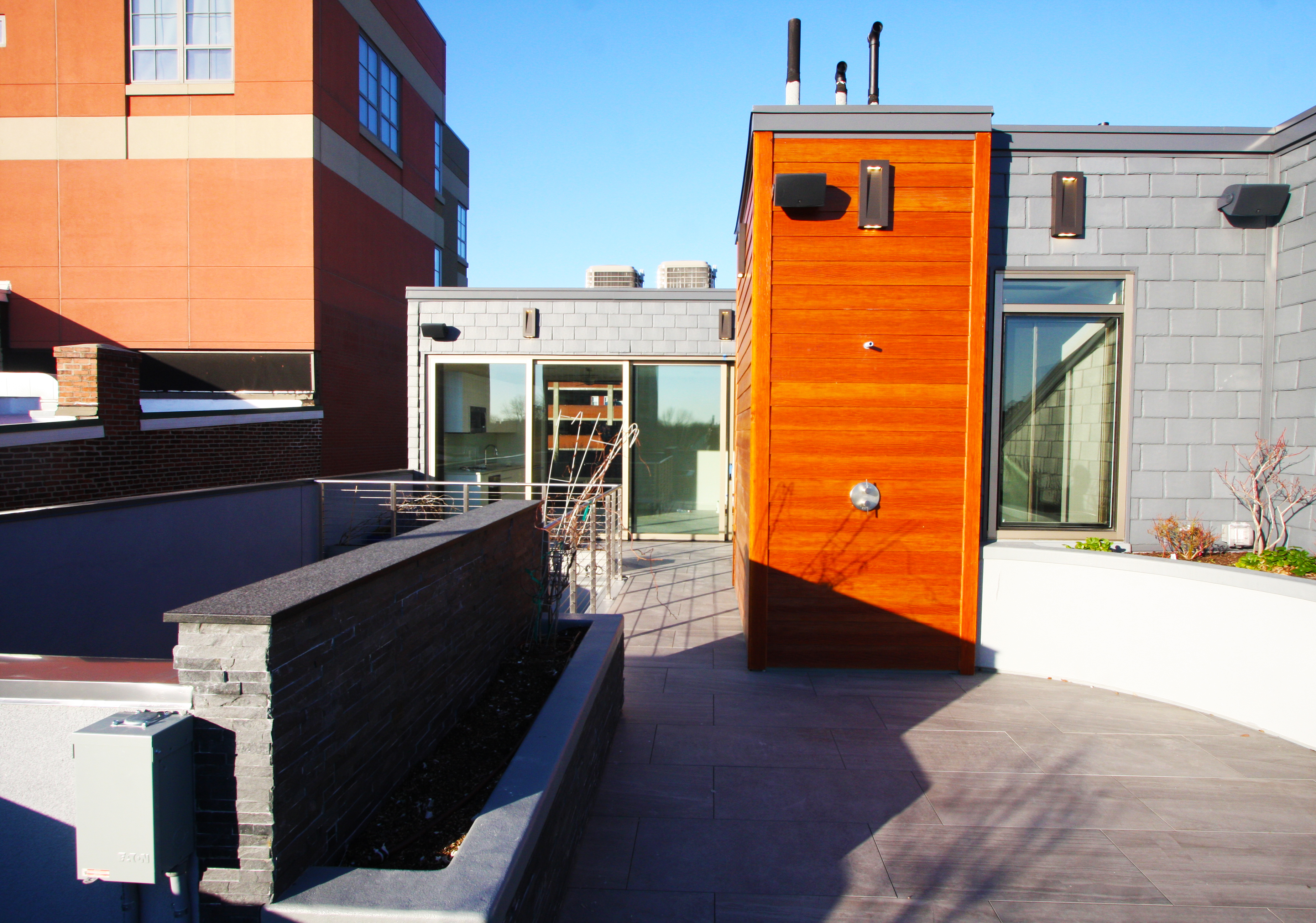 New Society Hill townhomes wow with unusual brick screen facade