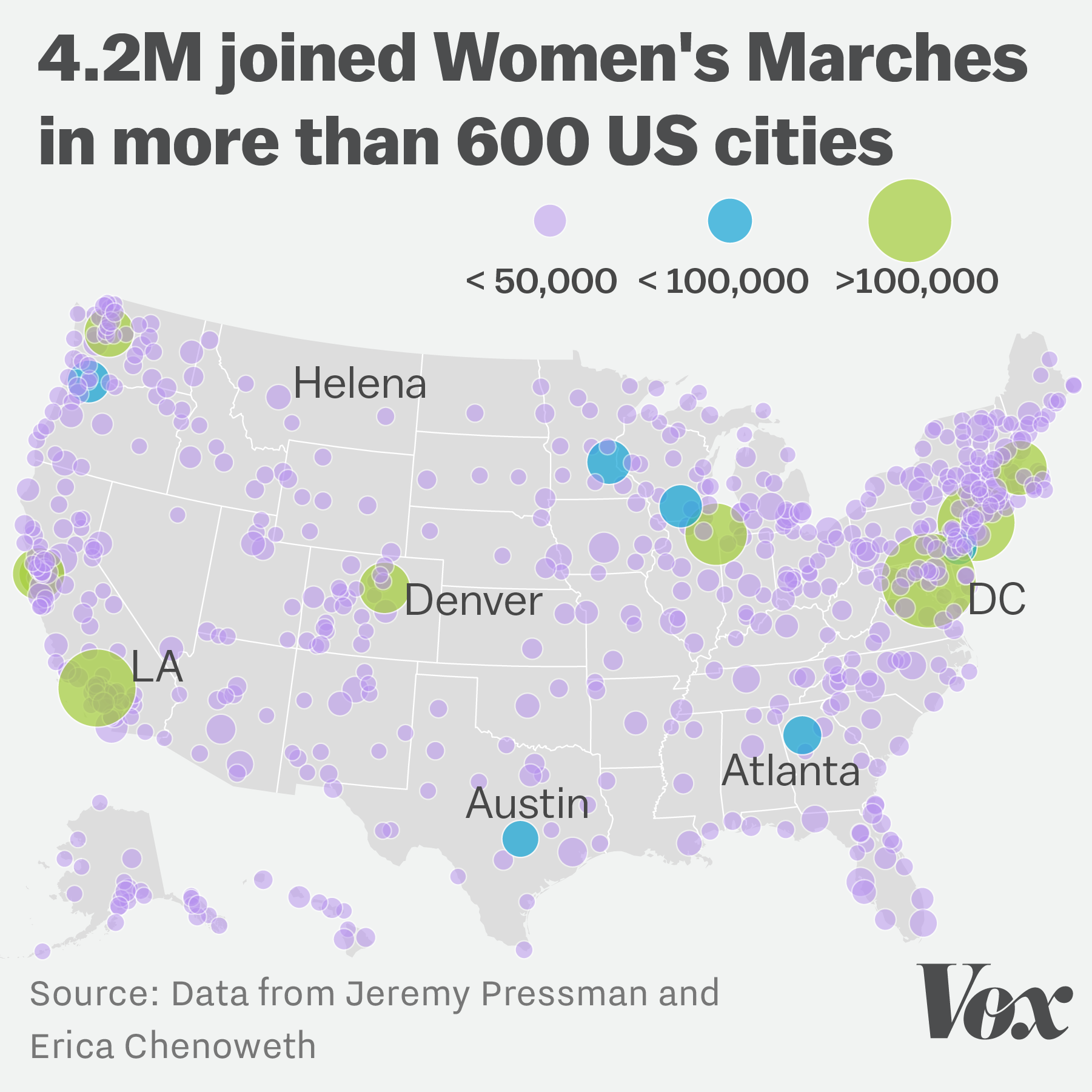 The Womens Marches May Have Been The Largest Demonstration In US - Us map showing washington dc