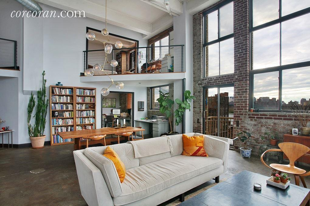 Williamsburg loft in a former factory wants 3 2m curbed ny - Brooklyn apartment interior design ...