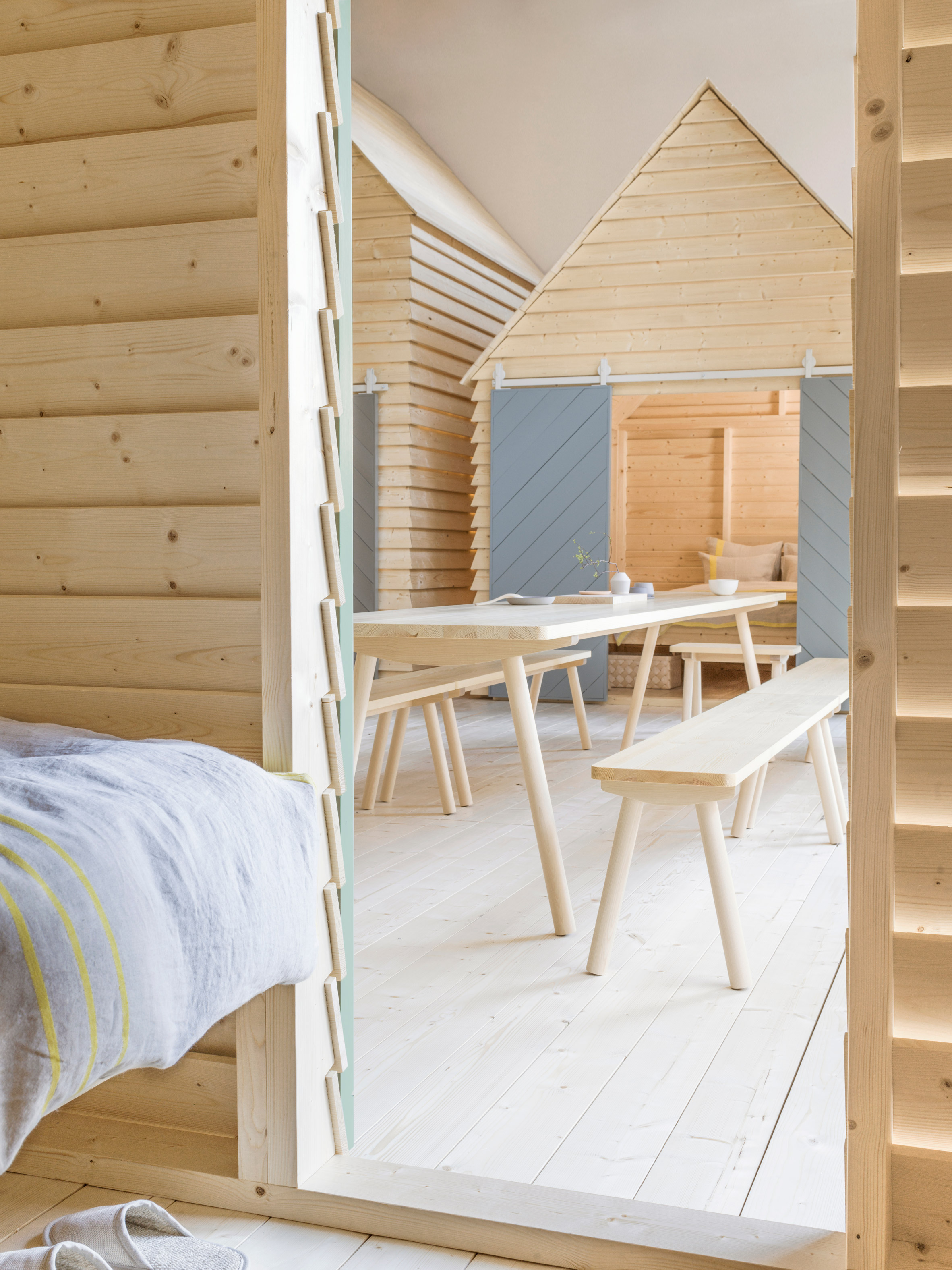 This new hotel in Paris consists of six adorable Finnish cottages
