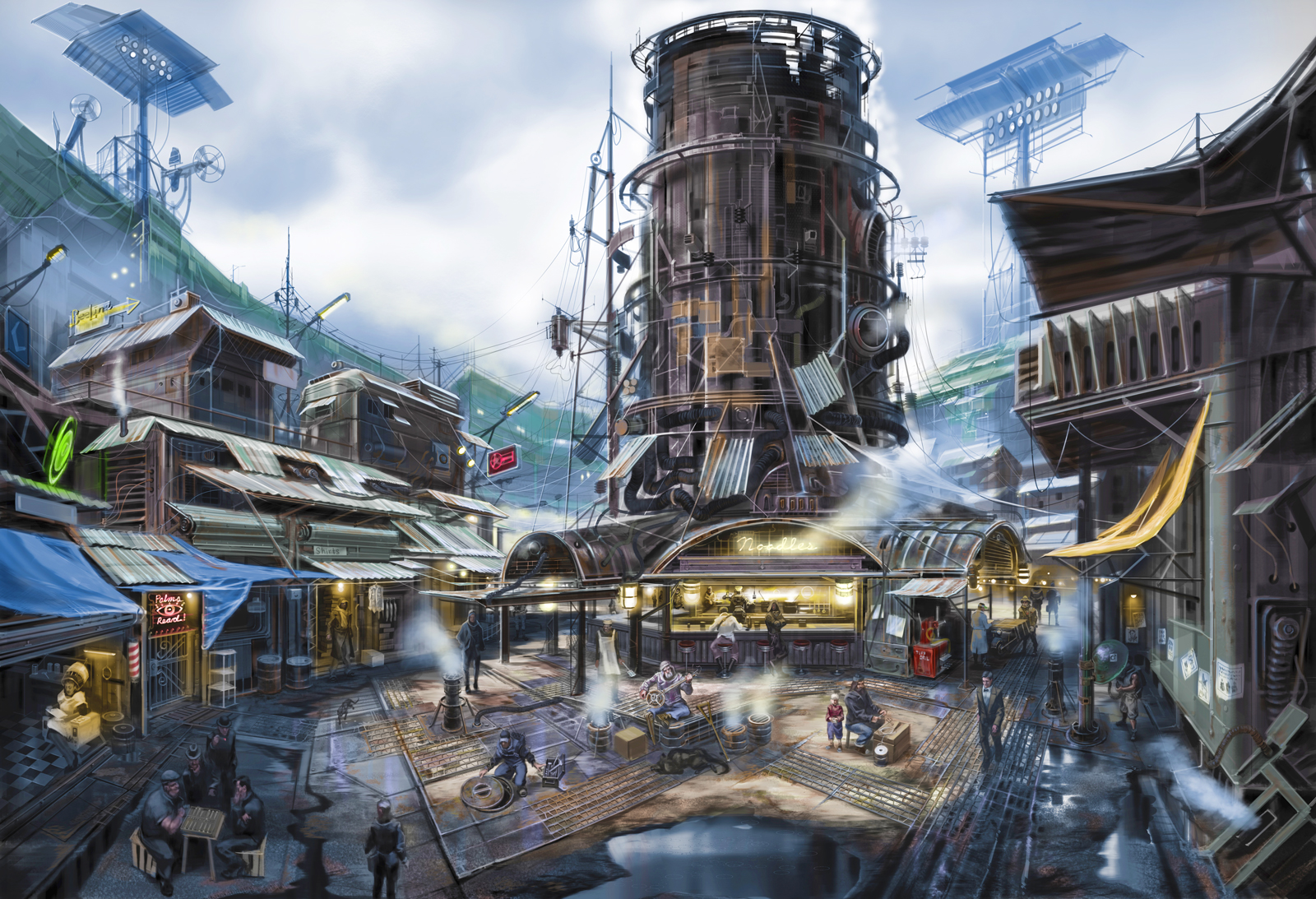 Fallout gets the fine art treatment with these gorgeous for Best house designs fallout 4