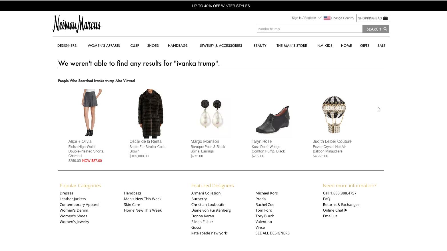a screenshot of neiman marcuss website