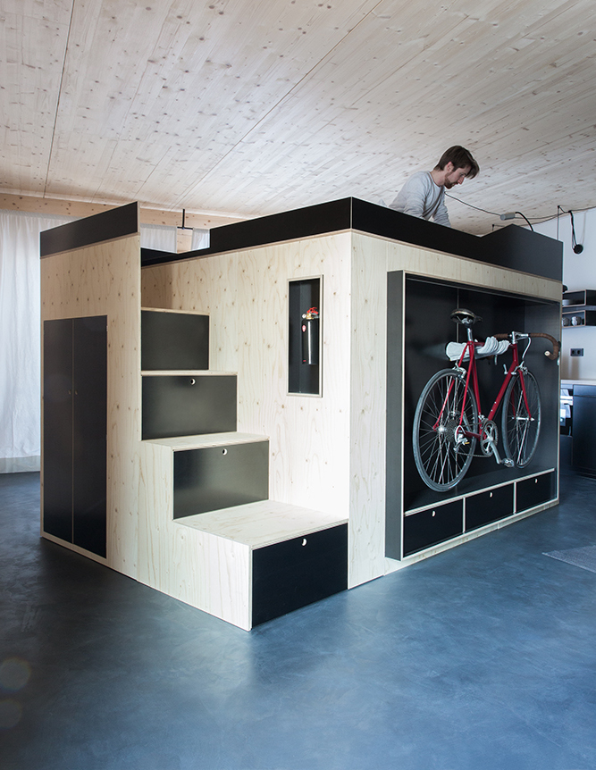 all in one furniture. from the german designer behind this trickedout volkswagen mobile home comes another allinone furniture solution for small apartments all in one i