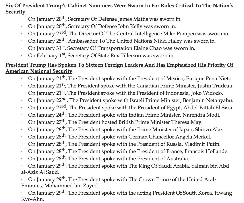 Trump fact sheet says America has 2 defense secretaries and Australia has a president