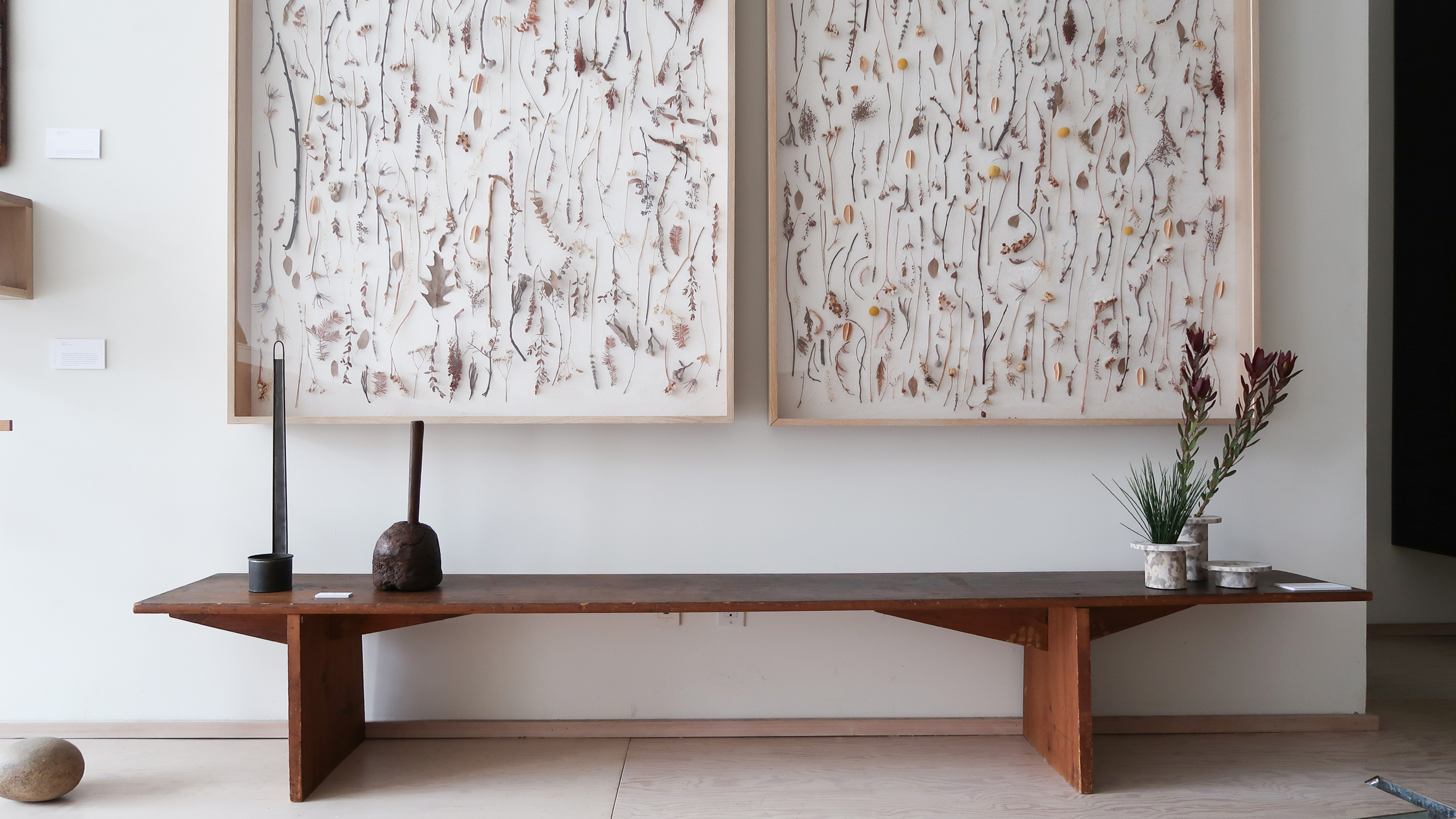 Original Shaker Artifacts Like A Large Cabinet Cast Iron Stove And Utensils Are Displayed Alongside Designs By Danish Masters Hans J Wegner Brge
