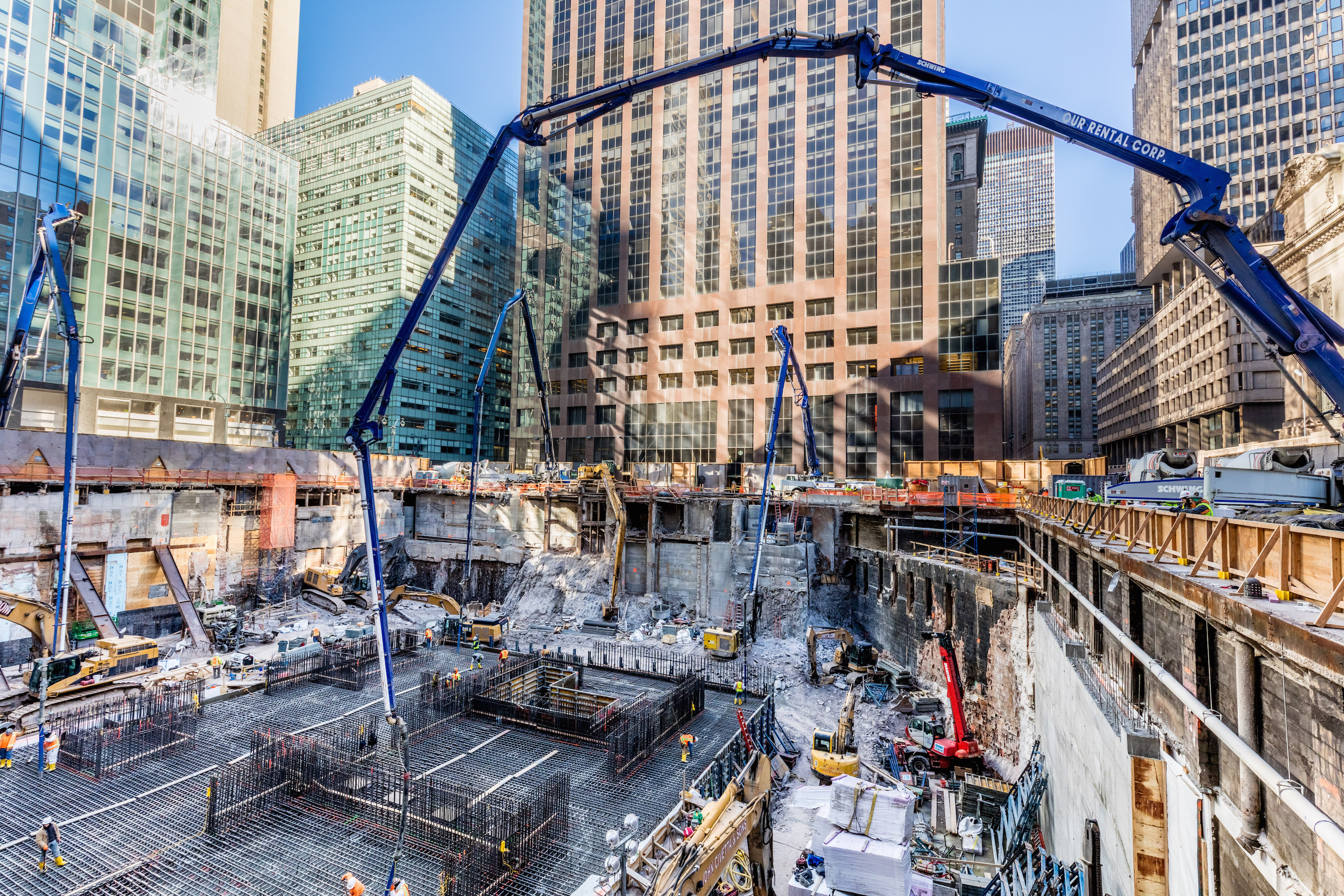 One Vanderbilt, Midtown East's supertall office tower, is ...