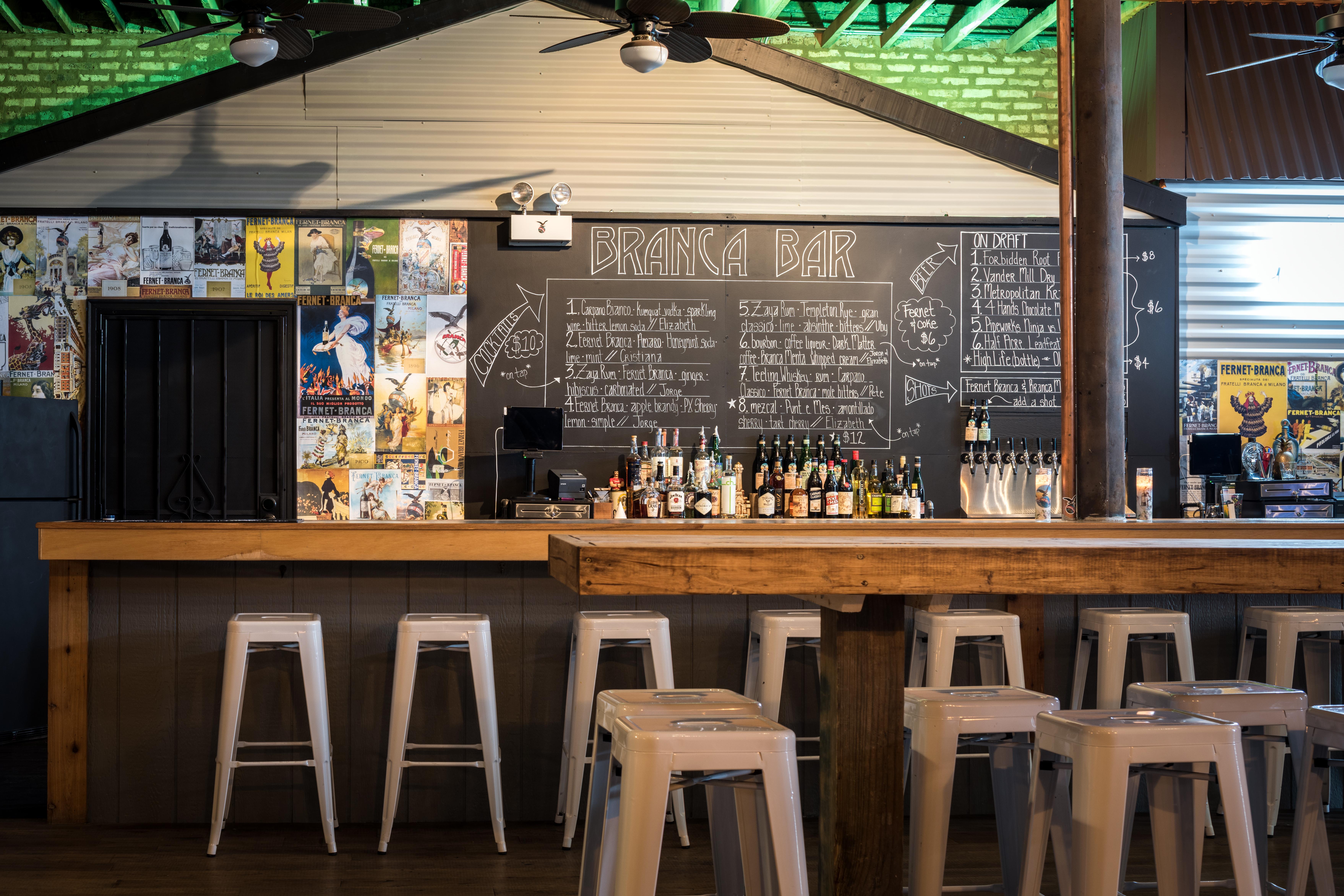 inside emporium's branca bar, surf bar's amaro-focused replacement
