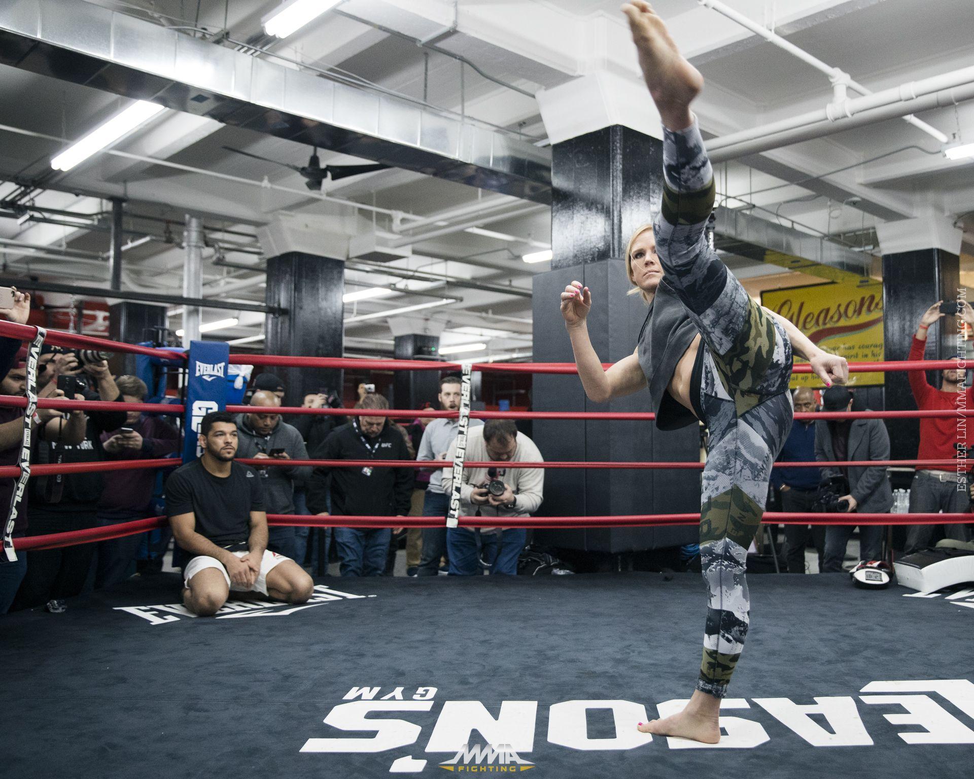 UFC 208 open workout photos