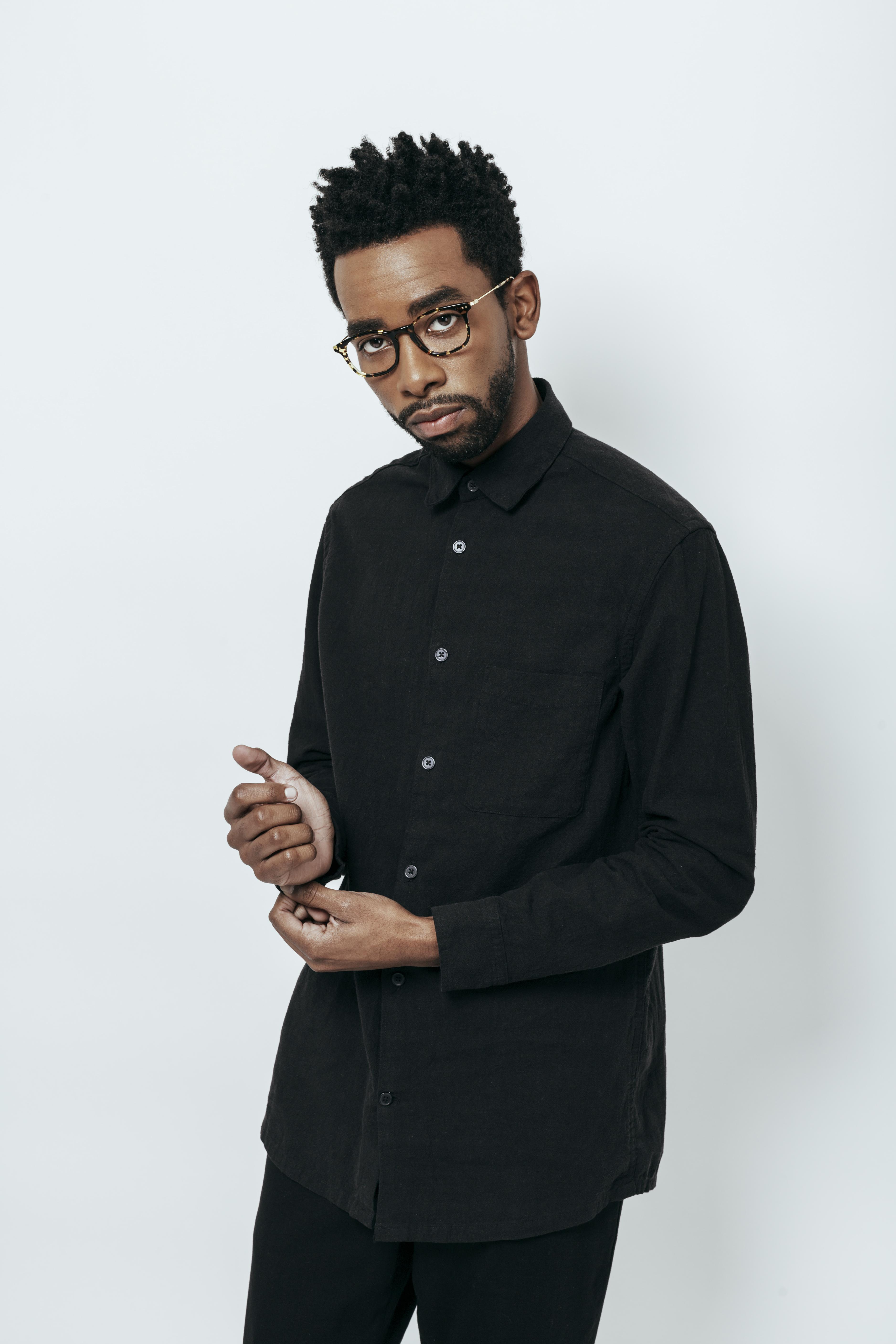 Just frames for glasses - A Man Wears Black Glasses