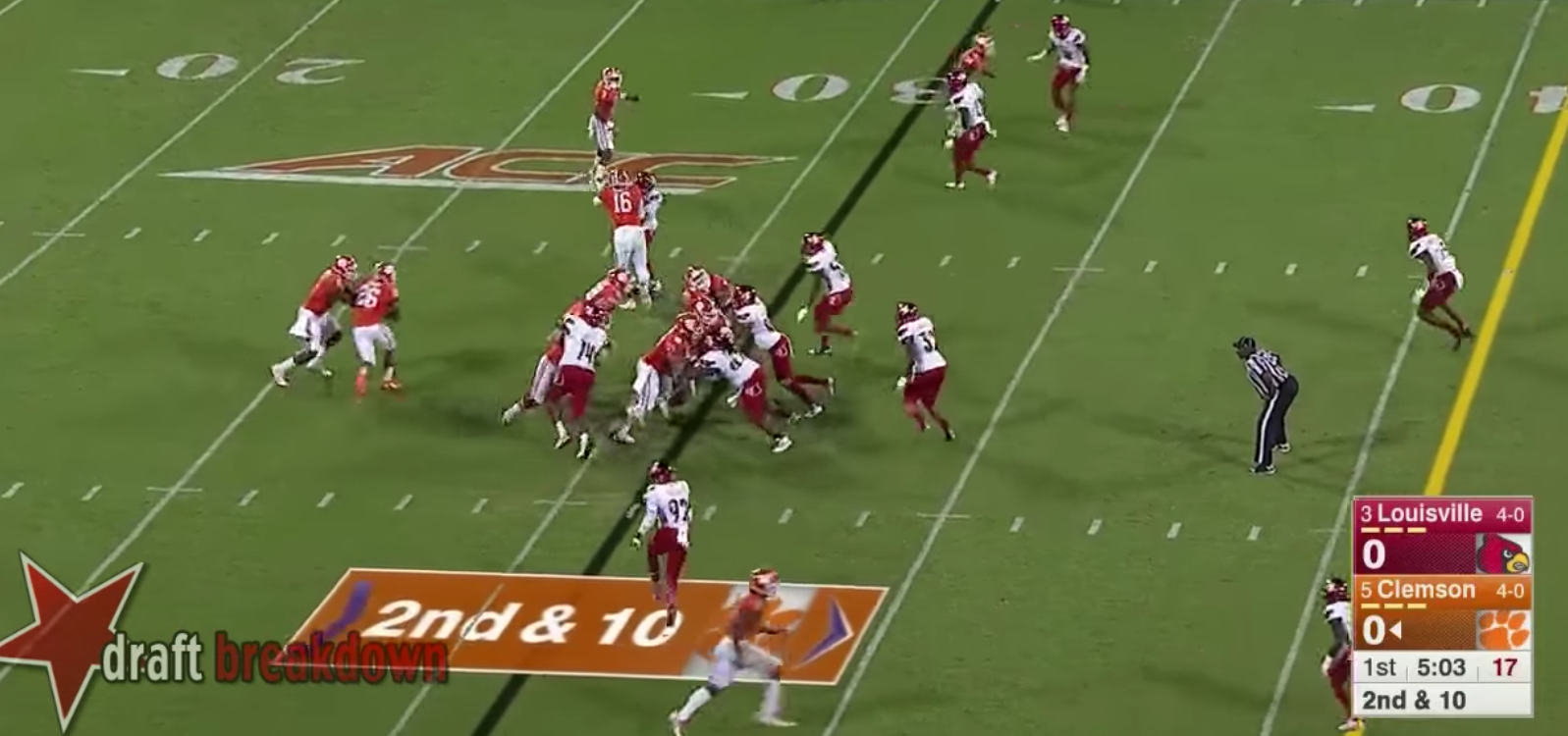 If the linebacker moves outside the tackle box and plays the running back then the quarterback is instructed to keep the ball and follow his pulling guard. & 2017 NFL Draft Team Breakdown: Clemsonu0027s Offense - Stampede Blue Aboutintivar.Com