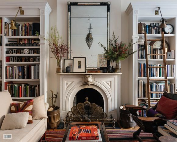 On Hicks Street In Brooklyn Heights A Charming 19th Century Brownstone Is Asking 525 Million Elegant Fireplaces And Detailed Molding Complemented