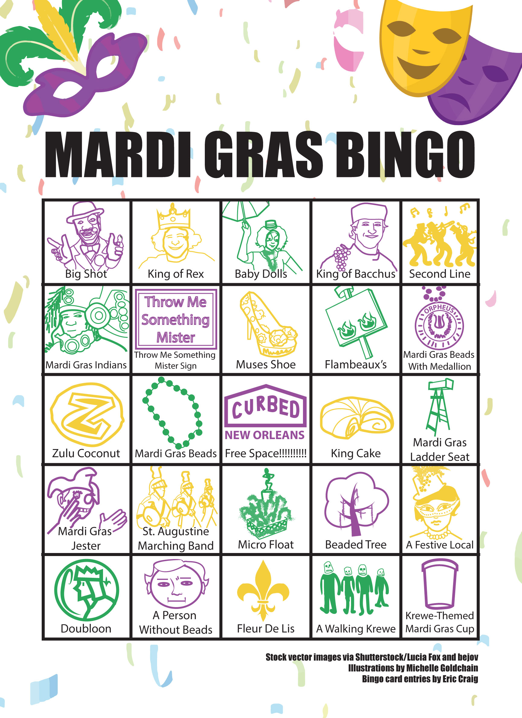 Celebrate Mardi Gras 2018 in New Orleans with this bingo ...