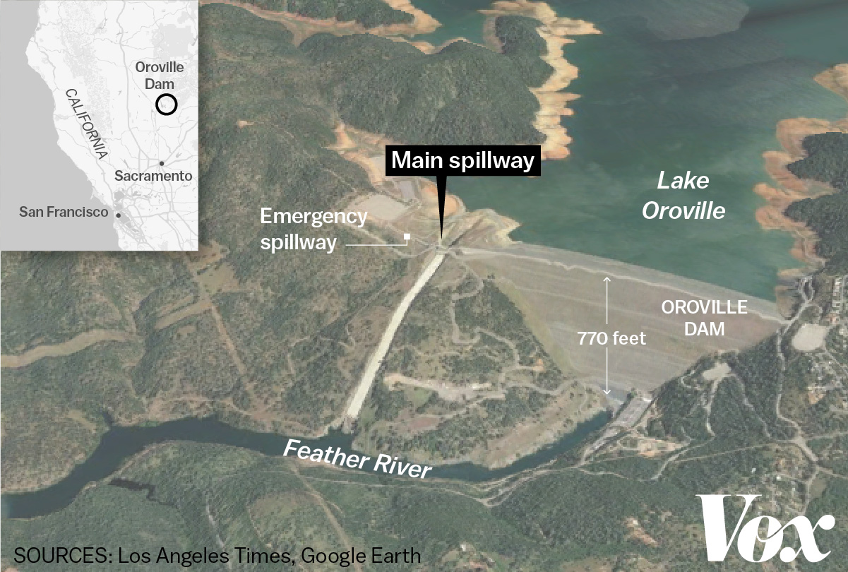 Oroville California Map >> The crisis at Oroville Dam, explained - Vox