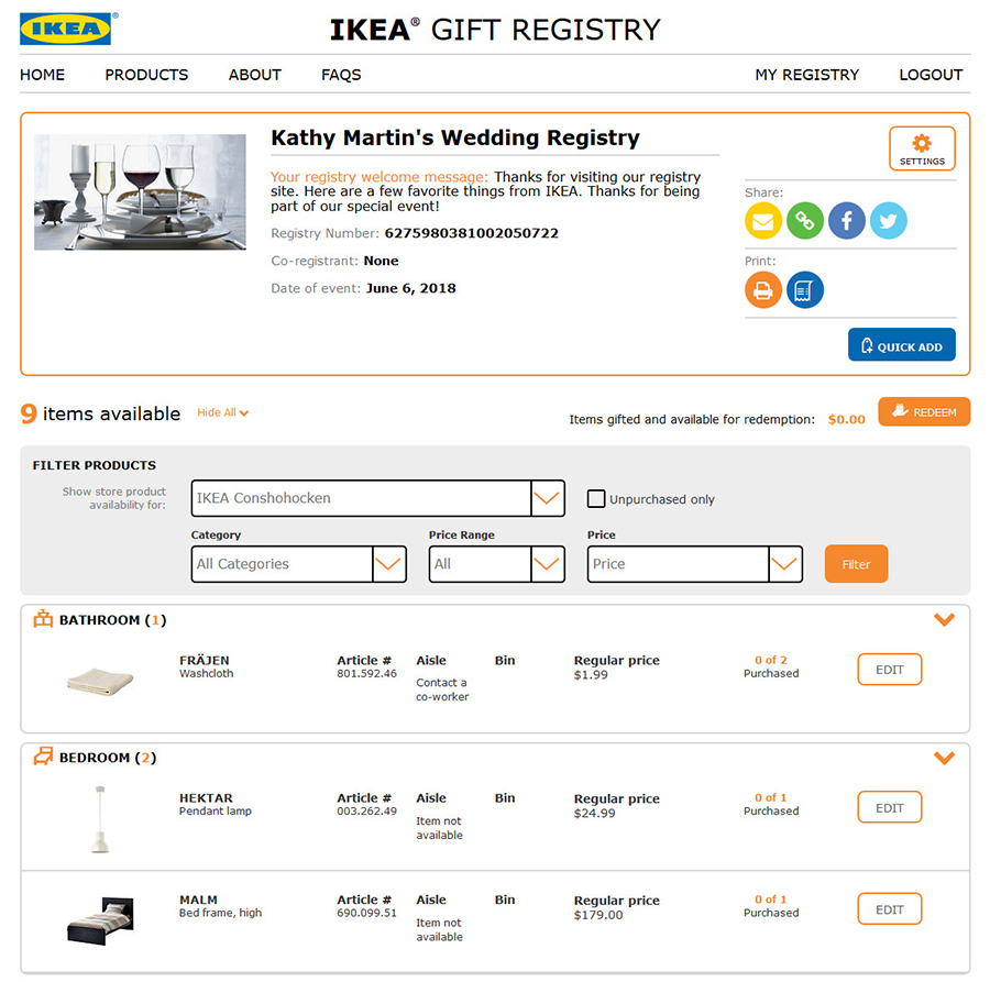The Ikea gift registry is finally here - Curbed