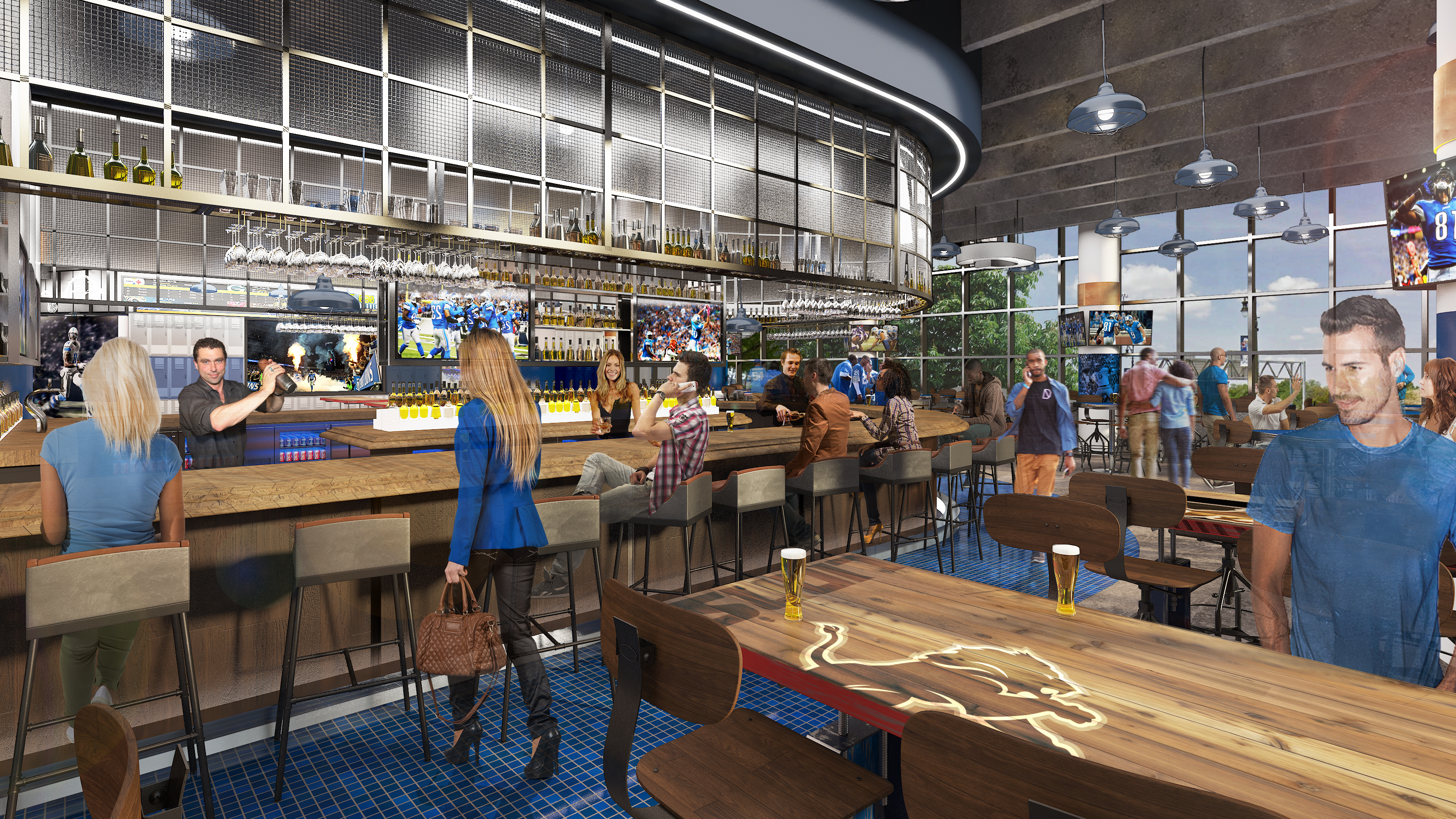 Detroit Lions Reveal Plans To Update Ford Field Bars And