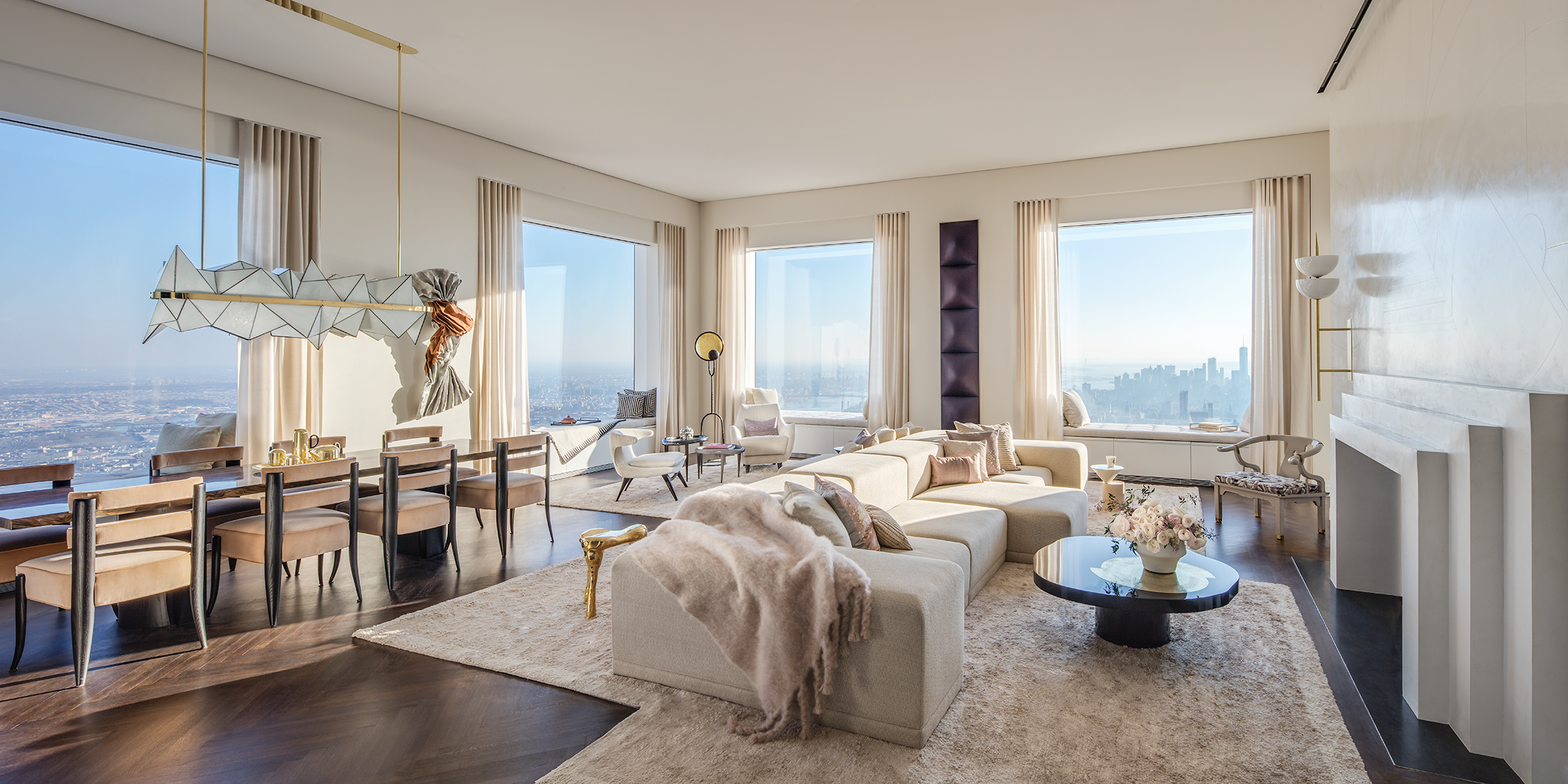 Peek inside 432 park avenue s 40m 92nd floor penthouse for The model apartment