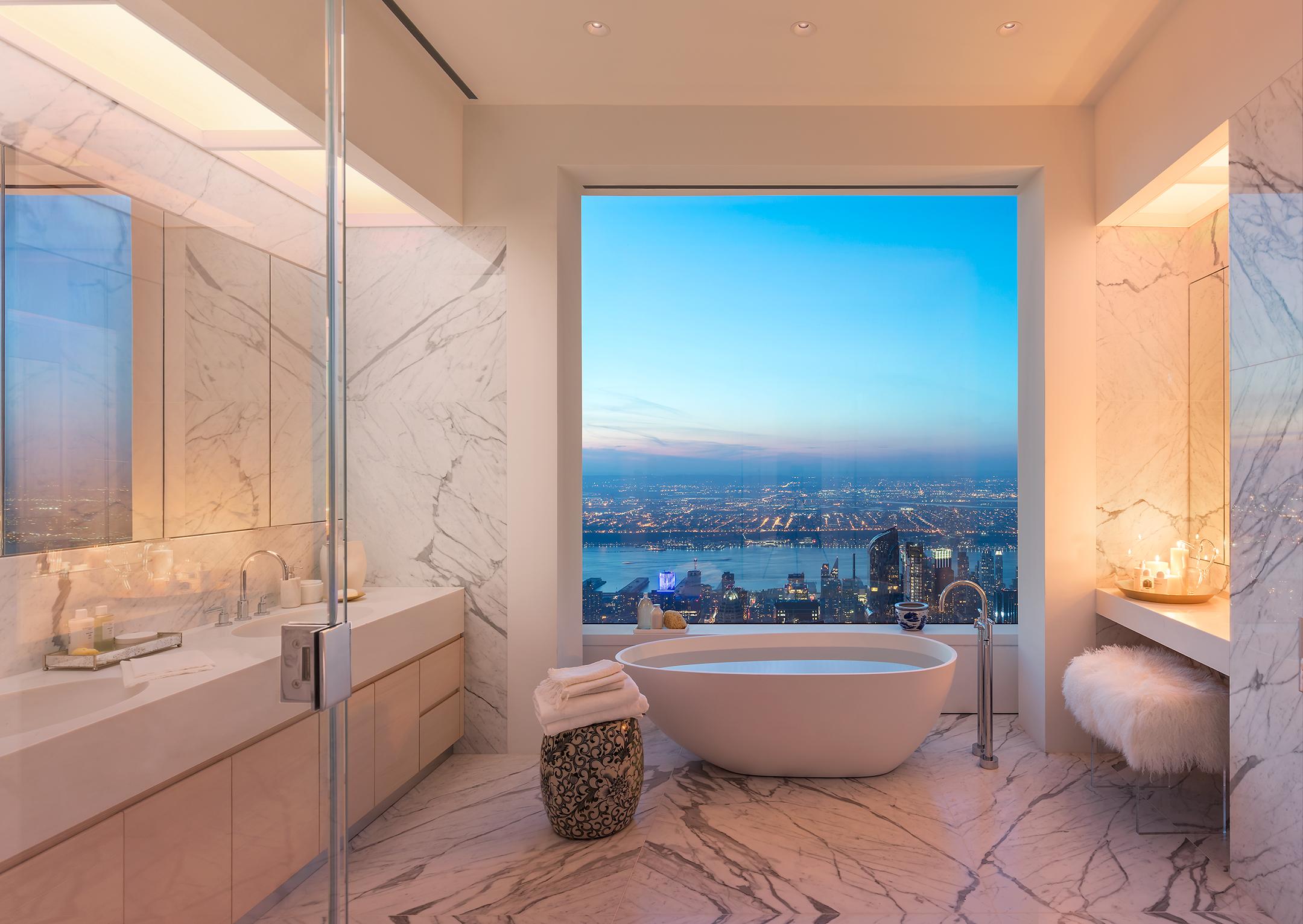 Peek inside 432 park avenue s 40m 92nd floor penthouse for Park ave apartments for sale