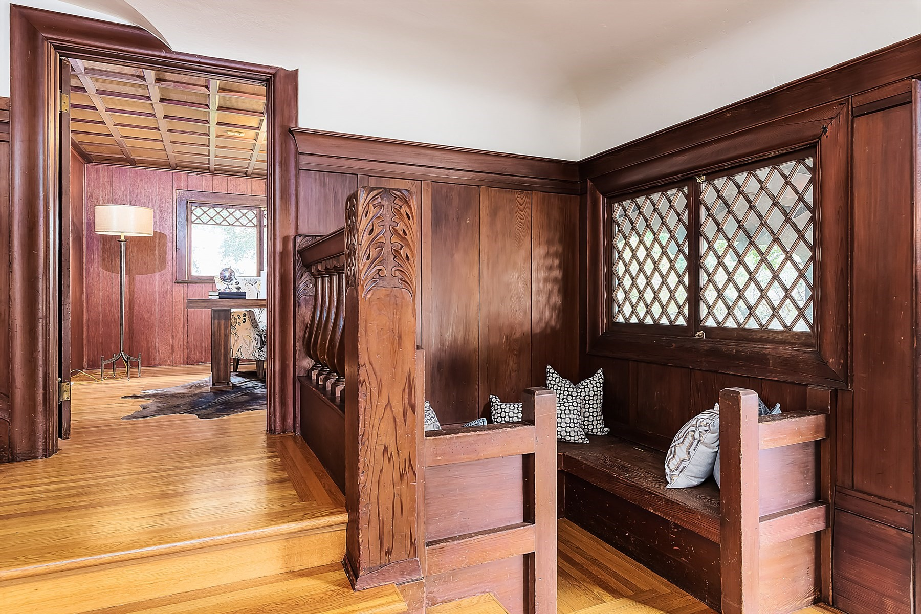 From The Staircase Banister And Windows To Beams Doors This Is A Phenomenal Arts Crafts Example Right In East Bay