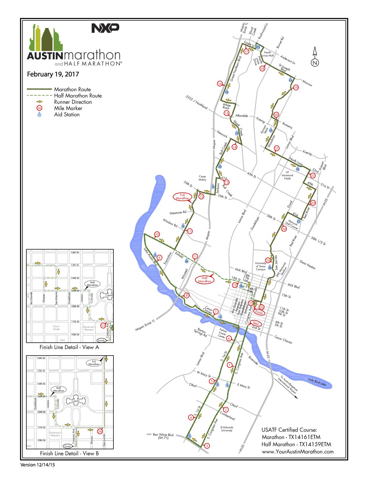 Street Closures For Austin Marathon Including Map Curbed Austin - Chicago marathon map