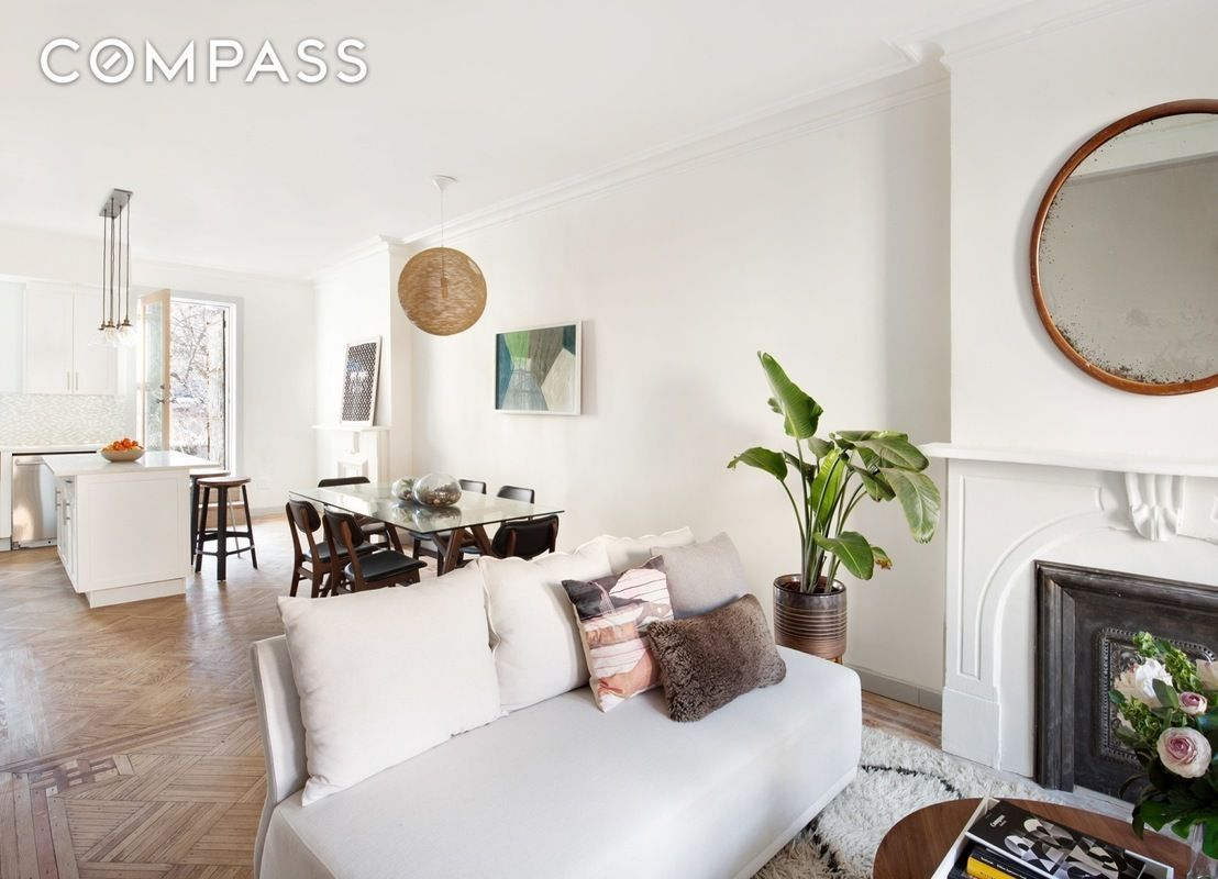 charismatic crown heights brownstone with exposed beams brick