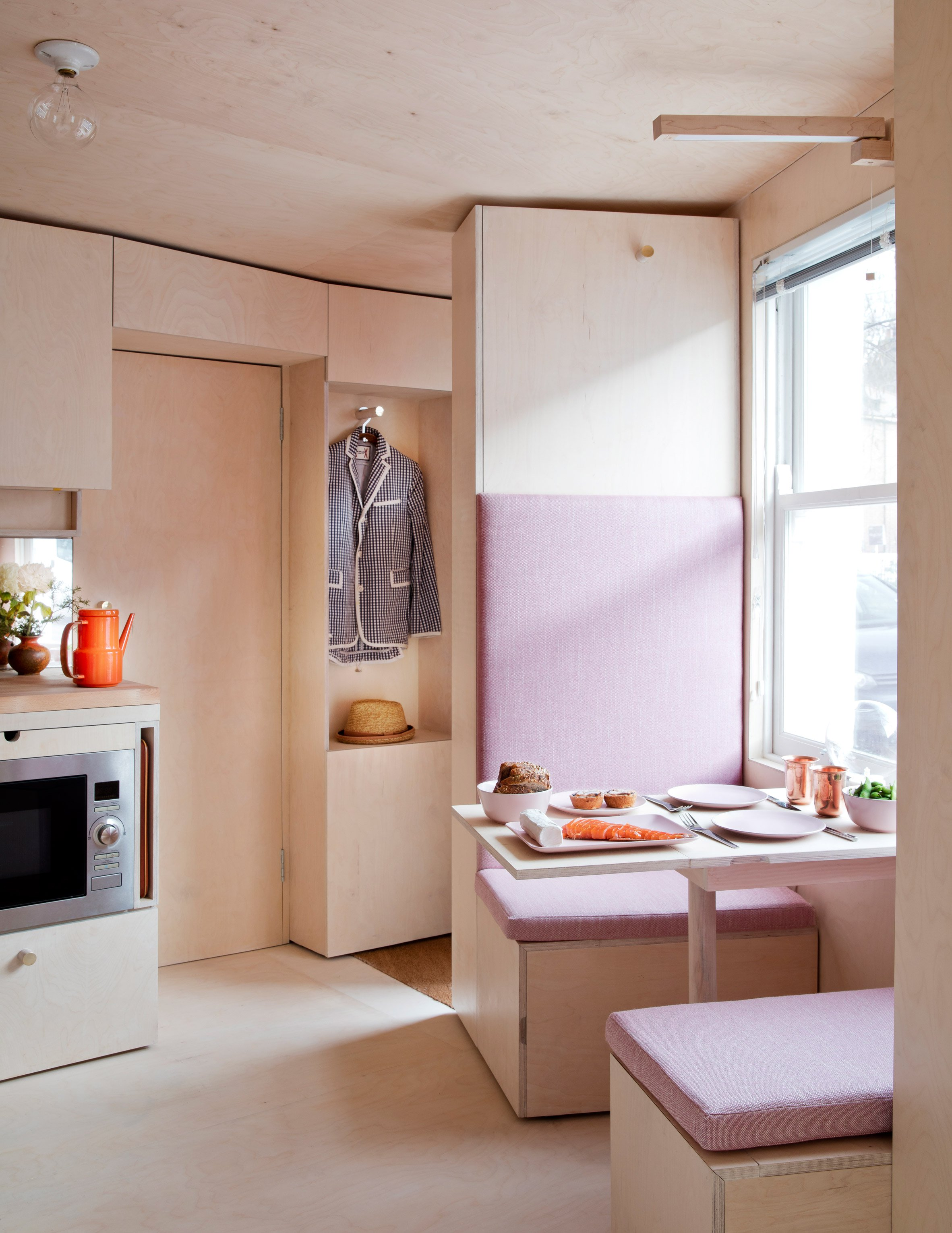 This flexible 140 square foot home maximizes livable space for 140 square feet room