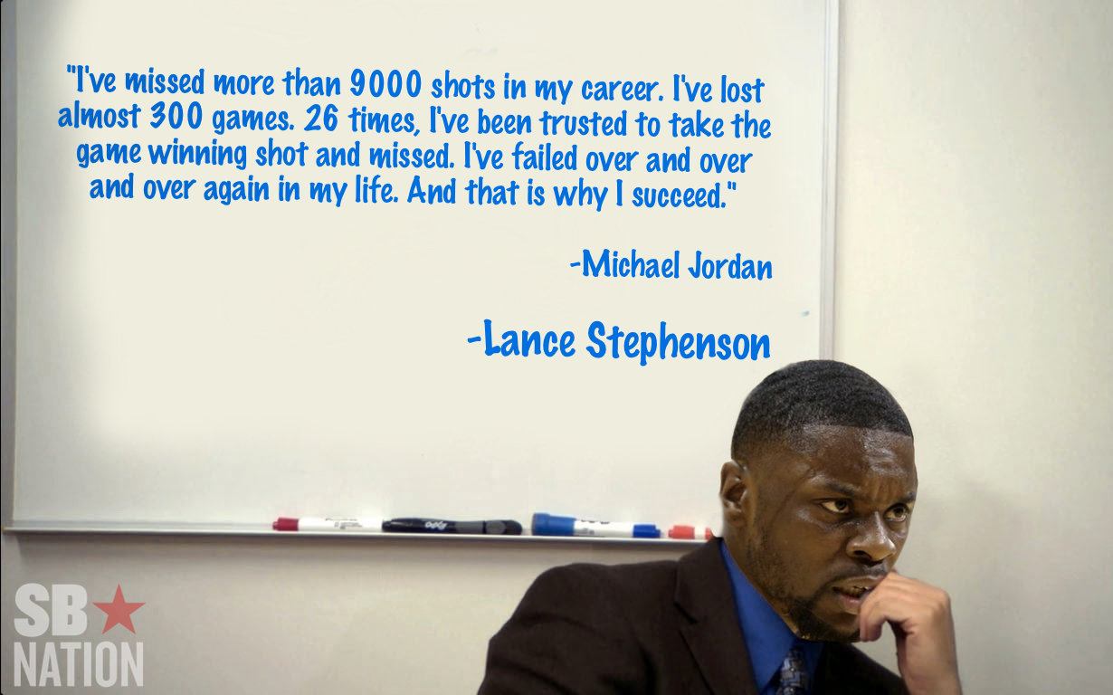 Quotes By Michael Jordan This Lance Stephenson Quote Is Actually A Michael Jordan Quote