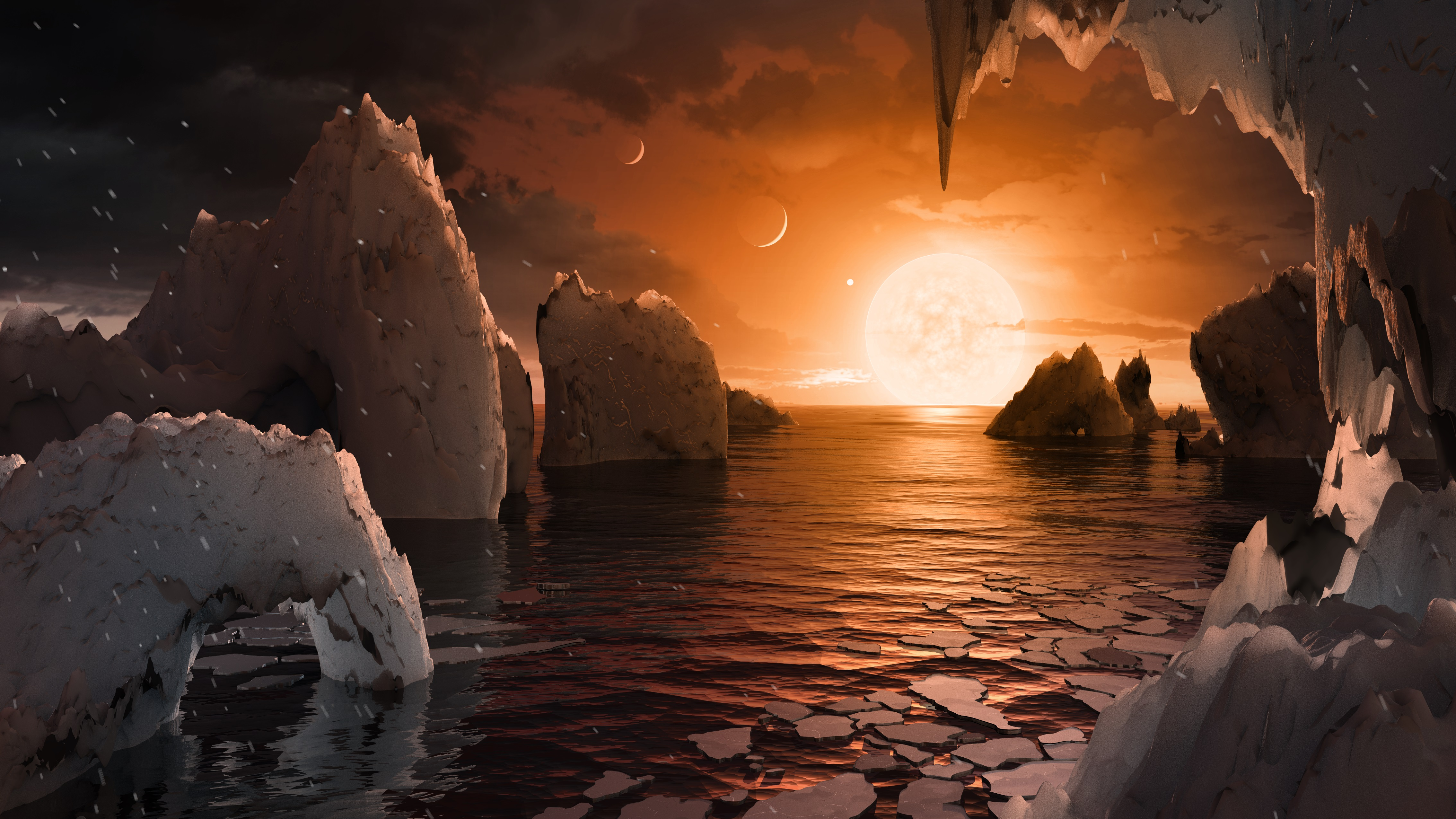 Time travel may be possible after scientists successfully send light - An Artist Rendering Of What It Might Look Like From The Surface Of Trappist 1f Photo Nasa Jpl Caltech
