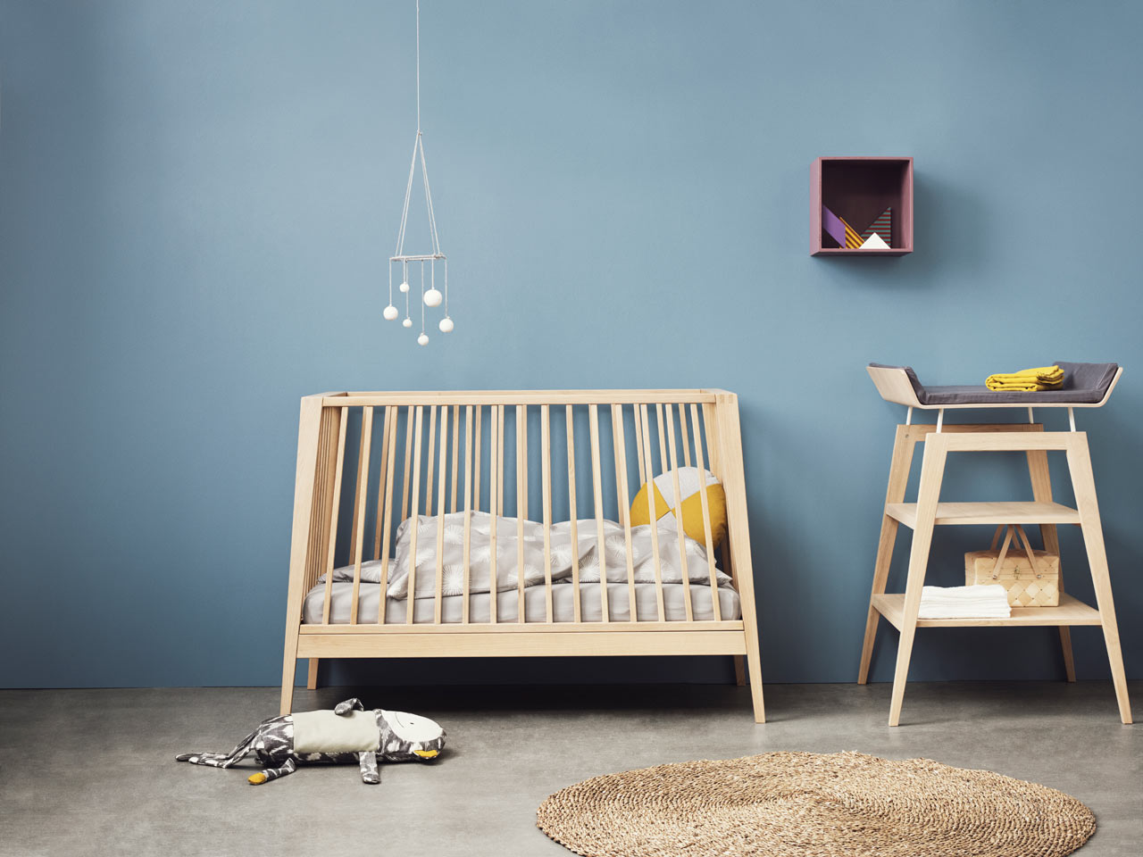 stylish baby crib transforms into a bed then a sofa  curbed - via design milk