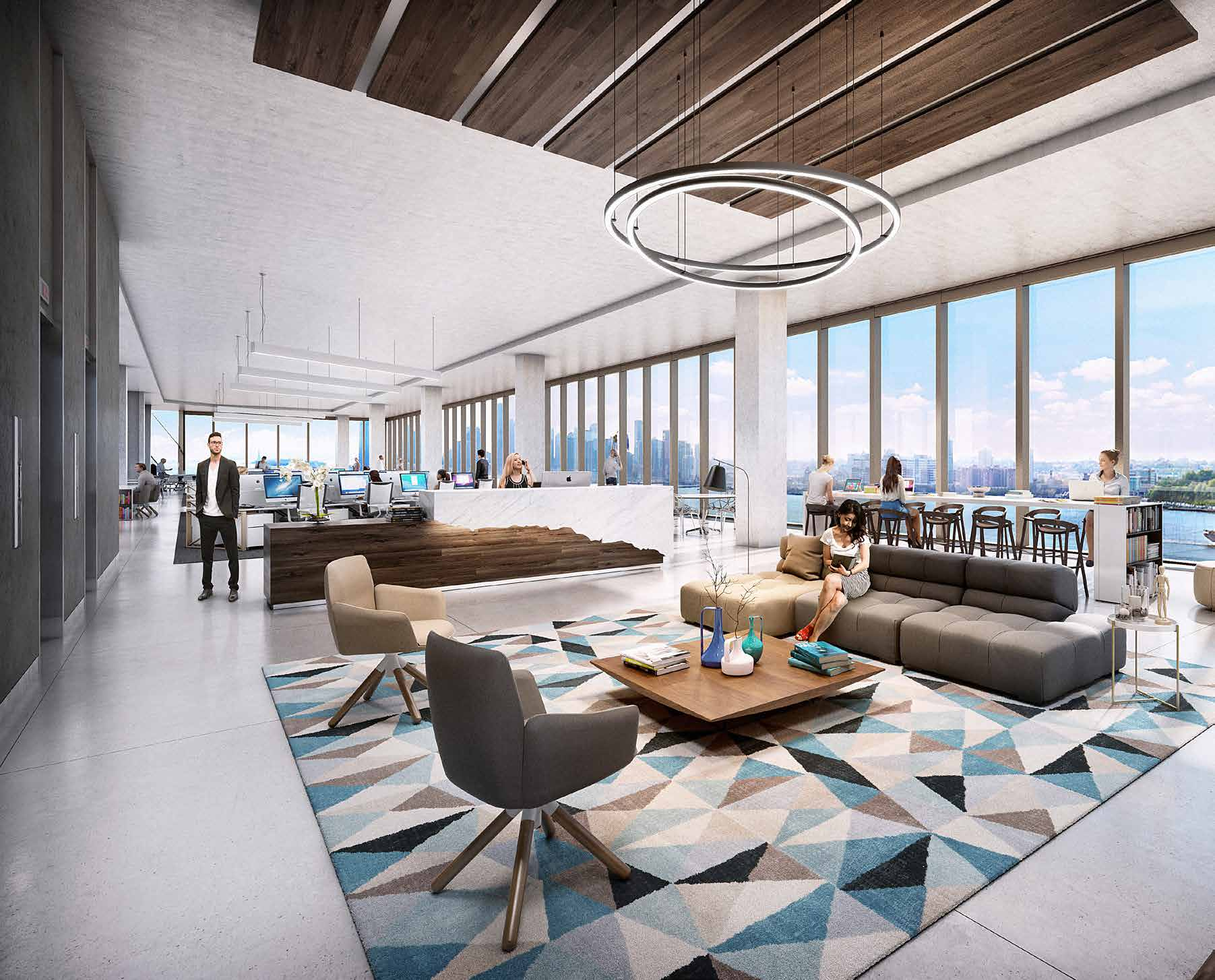 Studio gang s high line office building gets new for Interior design studio nyc