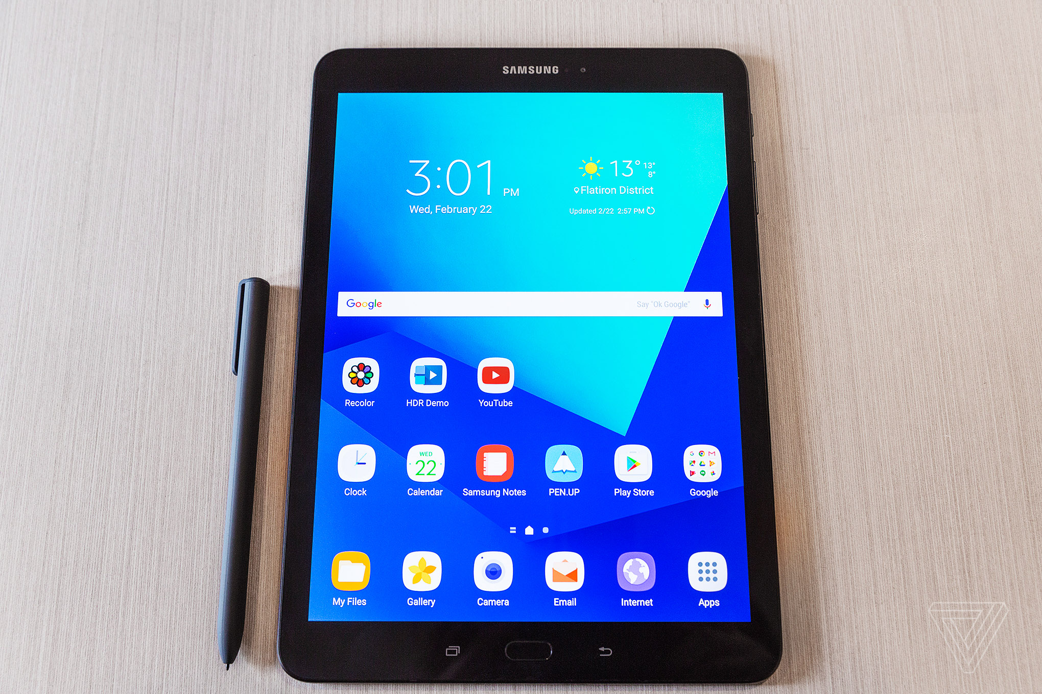 samsung s new galaxy tab s3 comes with four speakers and a. Black Bedroom Furniture Sets. Home Design Ideas