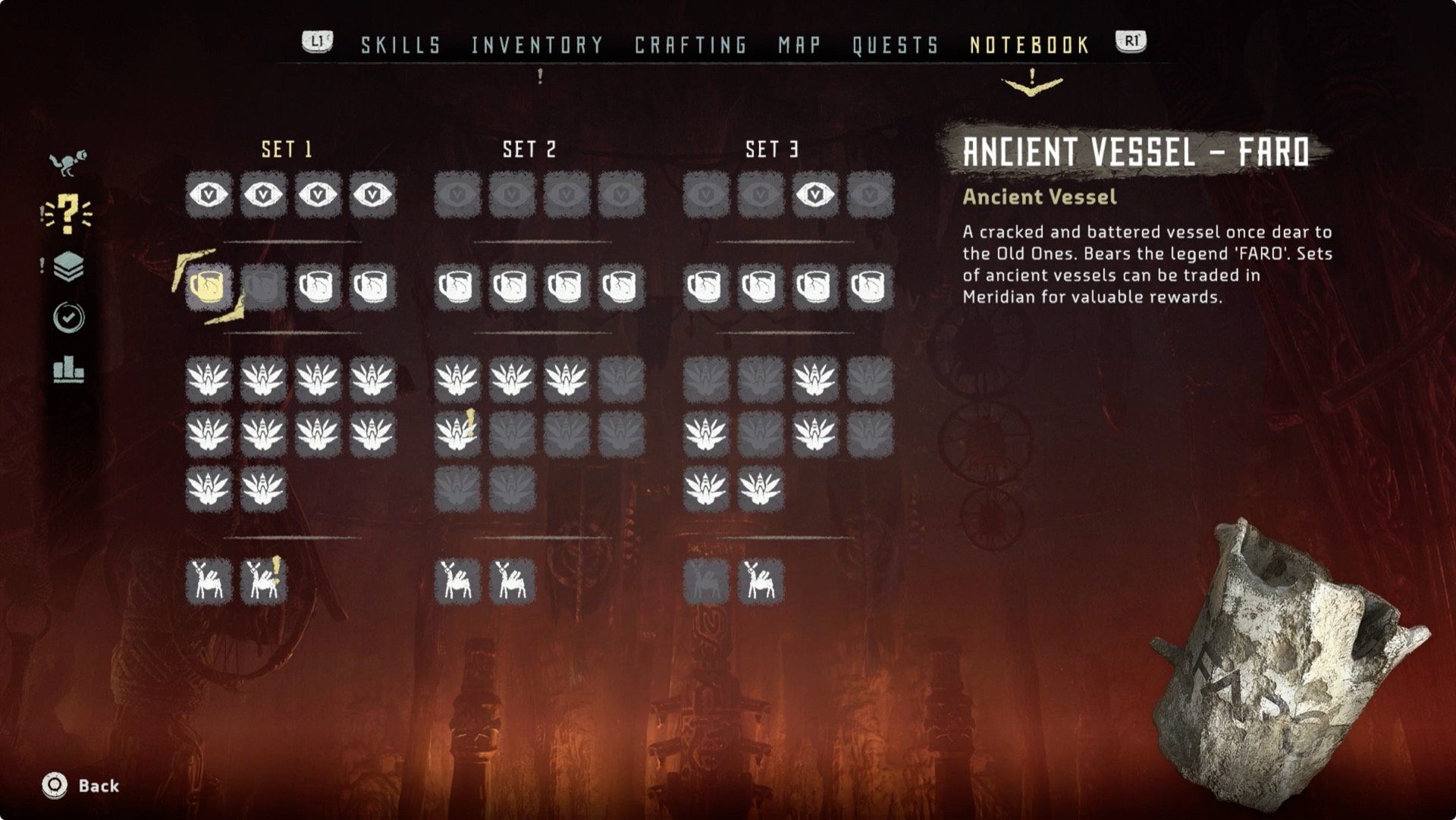 Horizon Zero Dawn Collectibles Guide Polygon - Four old us maps in holder