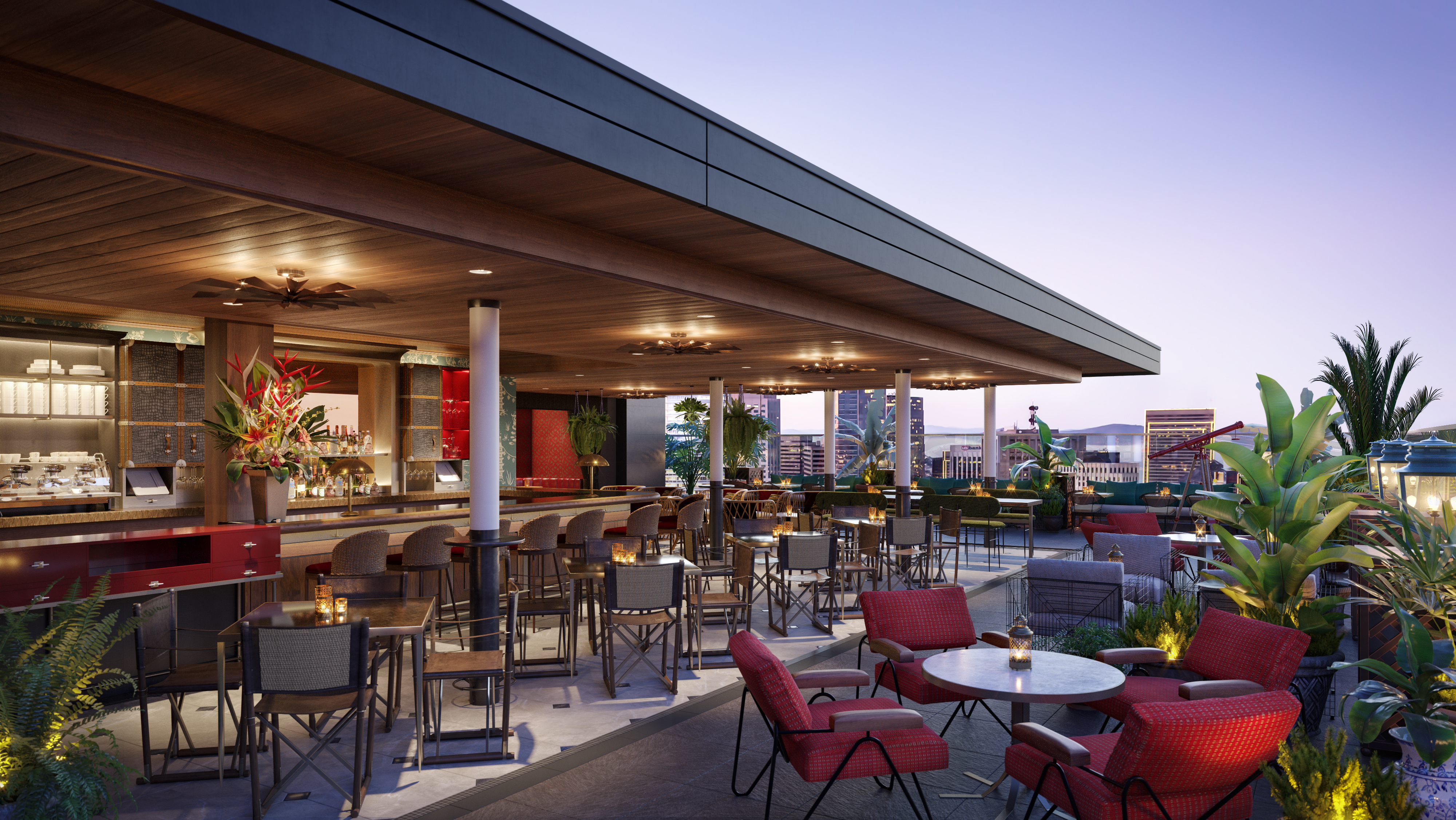 What The Hotel S Rooftop Bar Will Look Like Rendering Courtesy Of Virgin Hotels